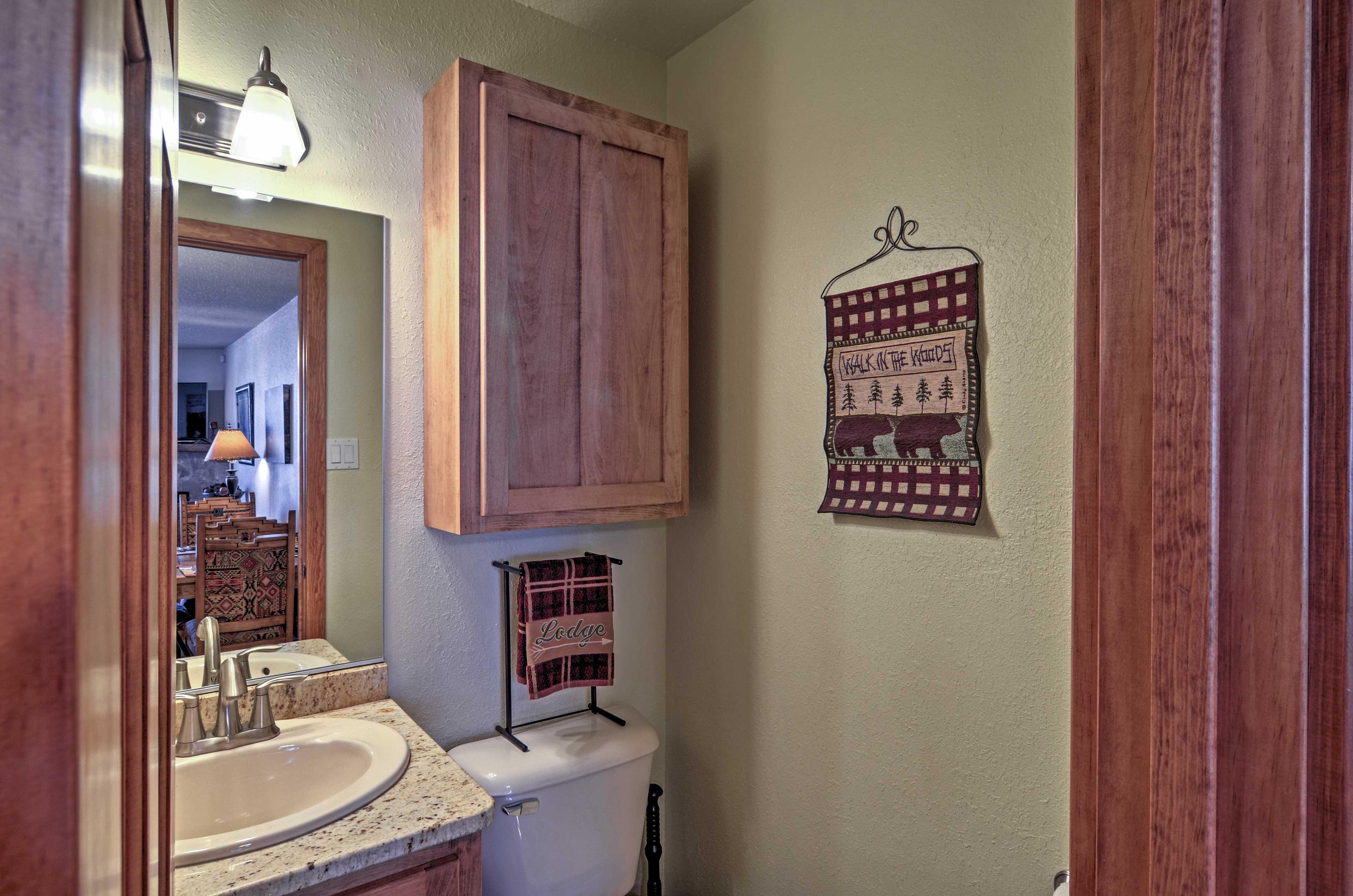 This half bath is right off the main floor.