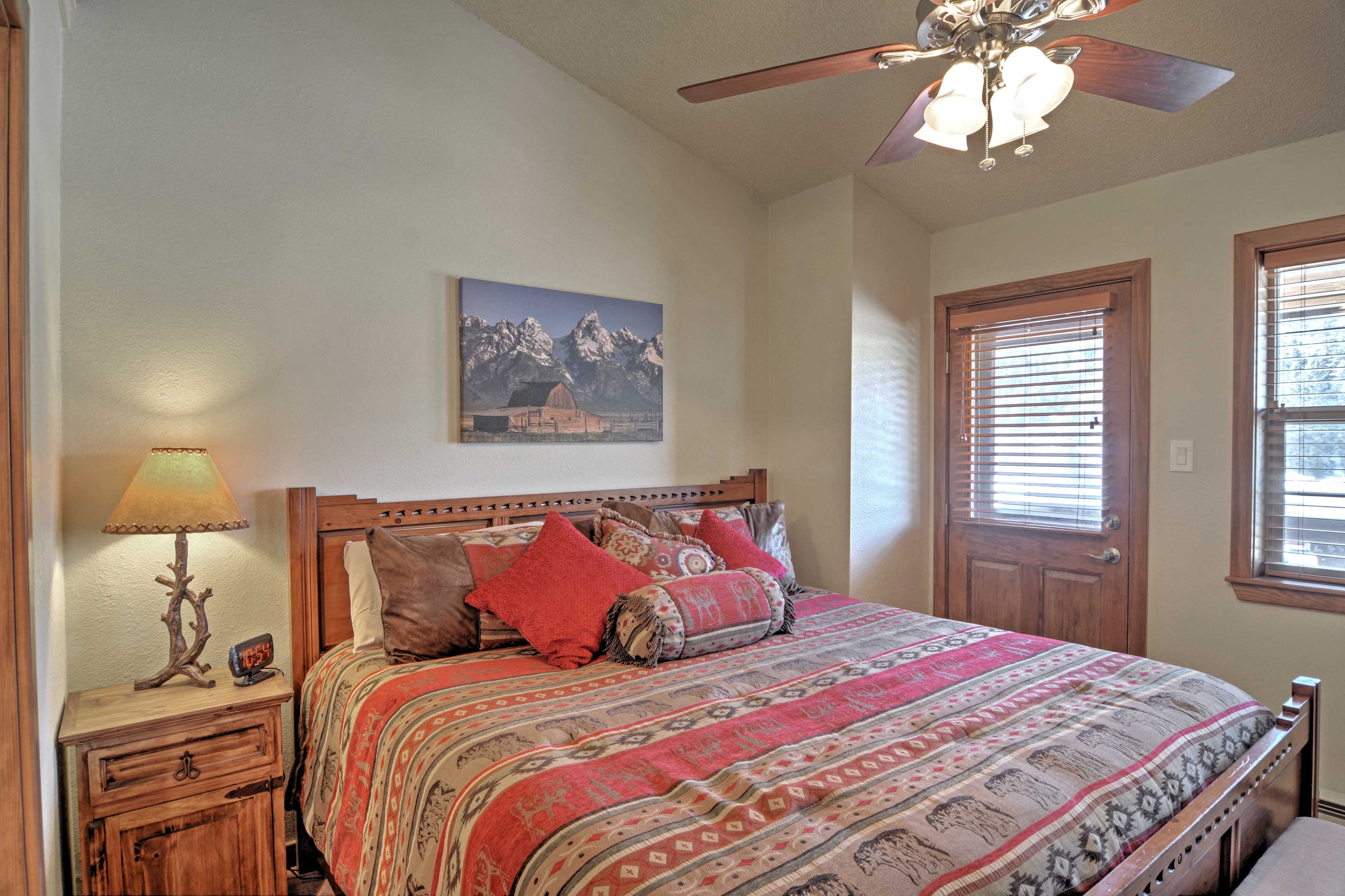 Fall into sweet dreams in this peaceful master bedroom.