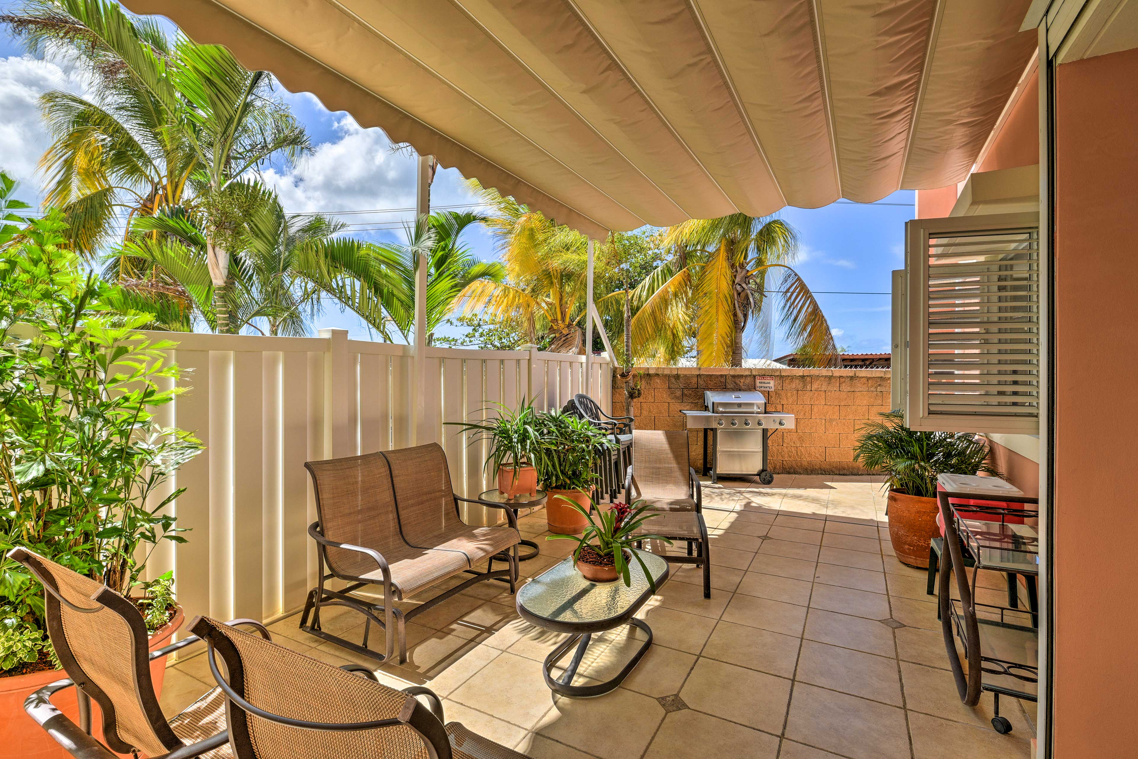 With a gas grill and ample seating, you'll love spending time here.