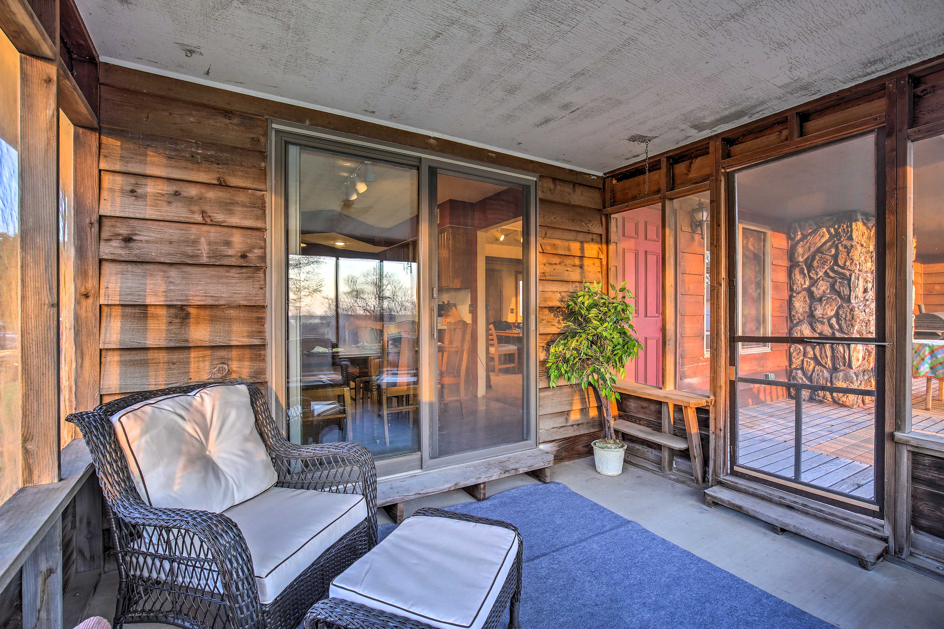 Watch each spectacular sunset from the comfort of the screened-in porch.