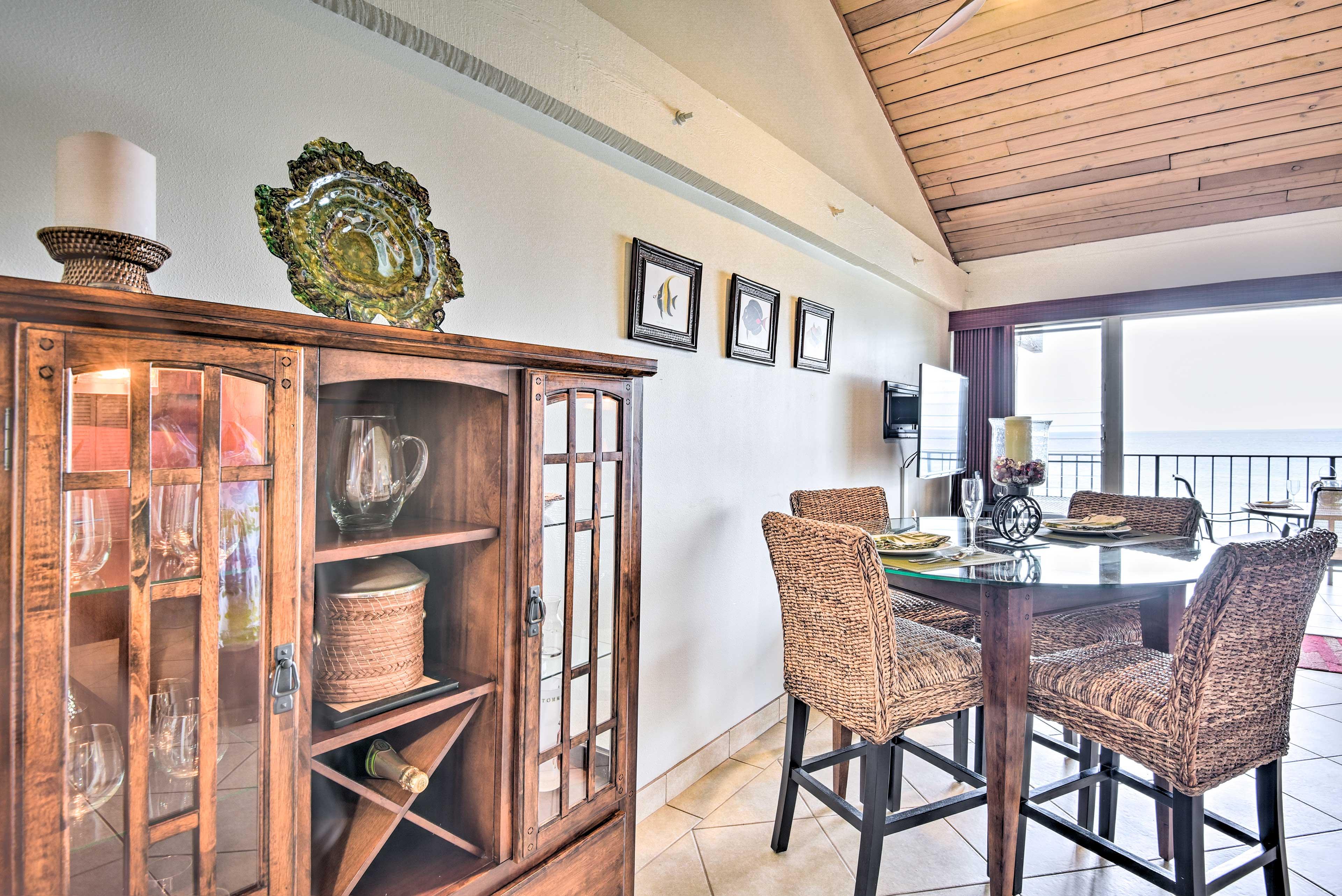 Elegant decor throughout the condo accentuates the resort-like feel.