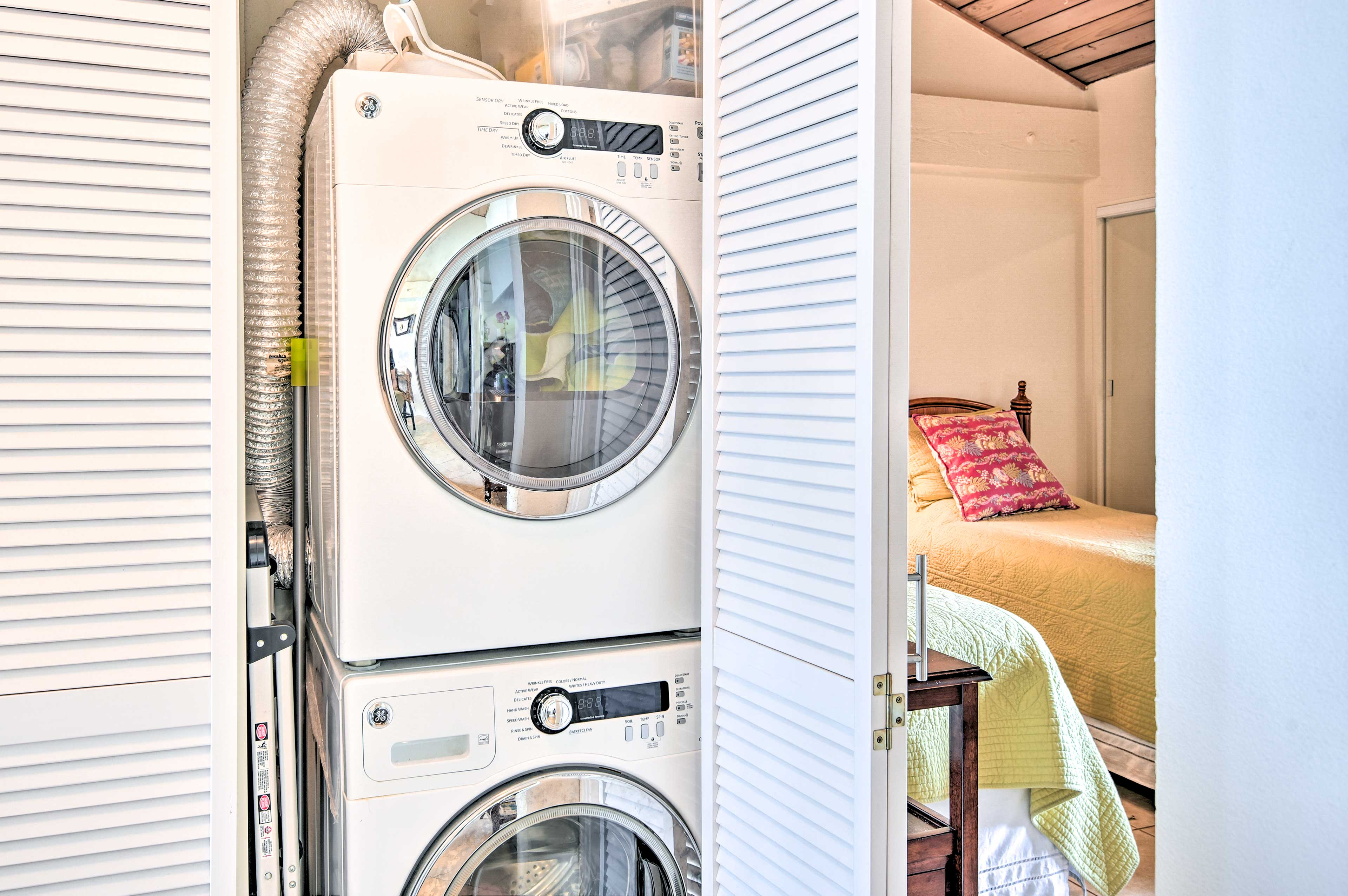 A high-end washer and dryer promise clean clothes.