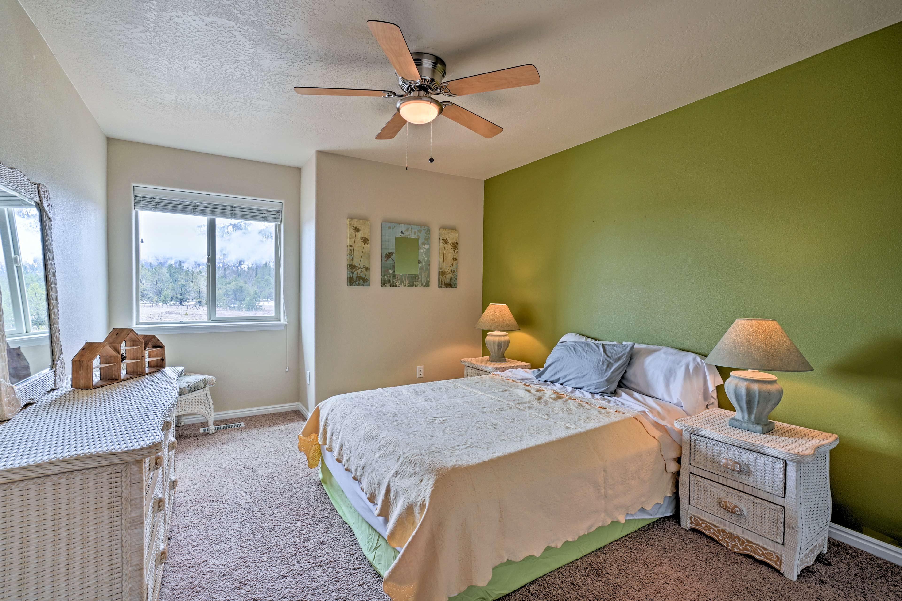 Little ones will love the space in the third bedroom.