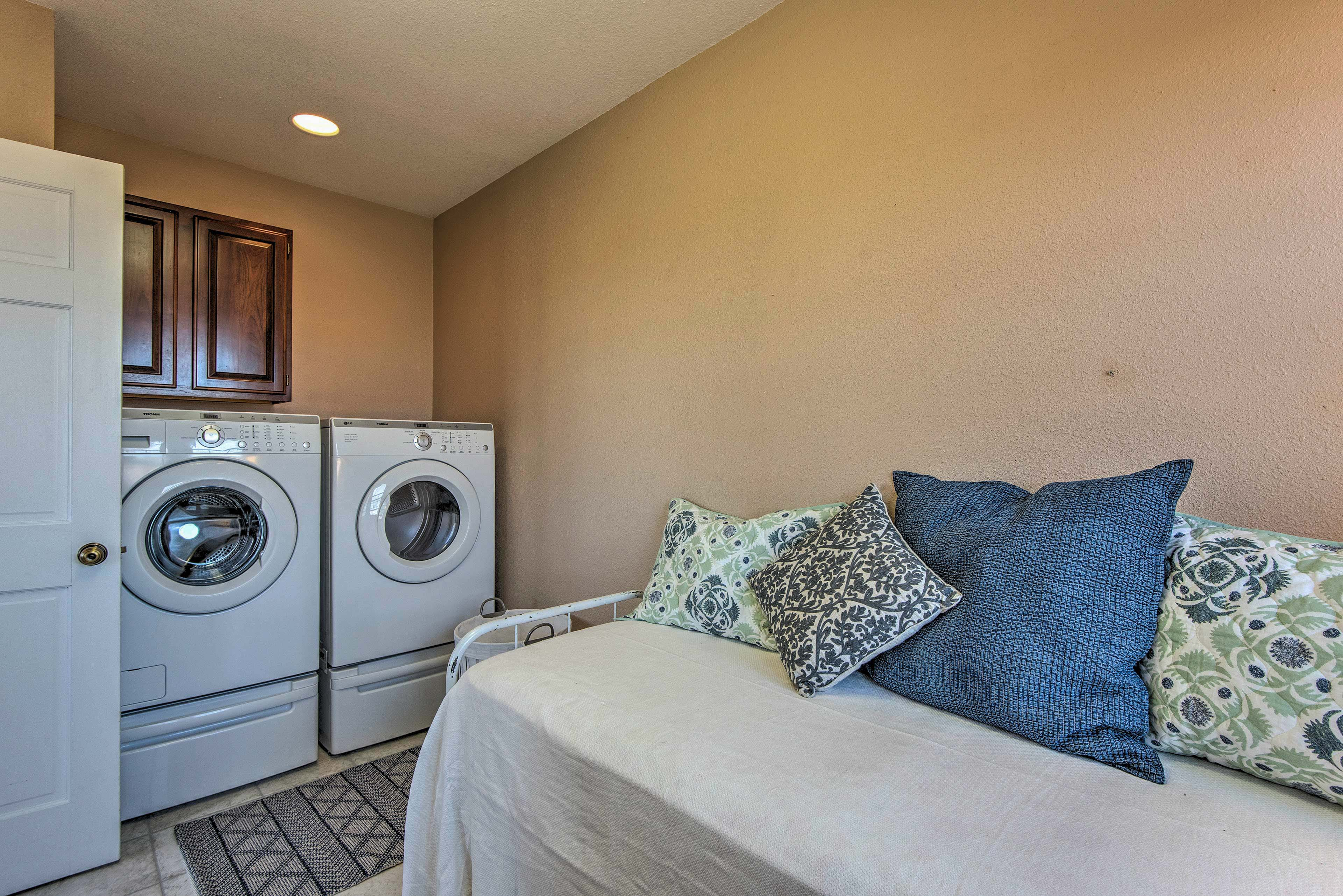 Keep your clothes fresh and clean with the washer and dryer!