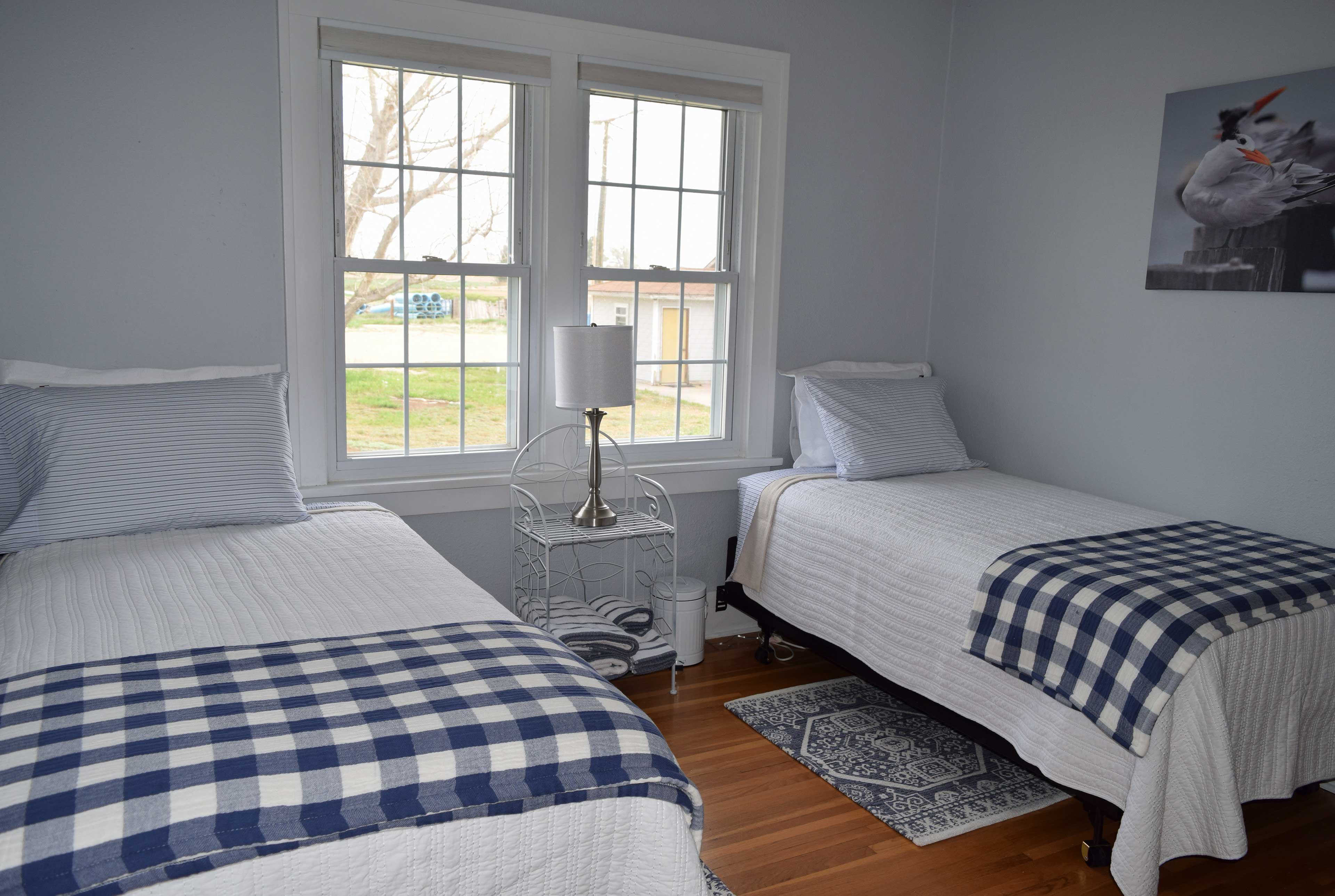 Kids will love sharing the second bedroom!