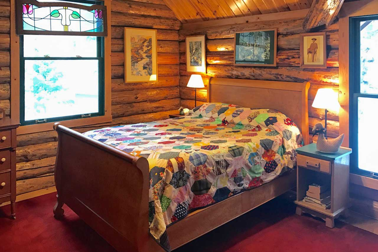 Two guests can claim the master bedroom.