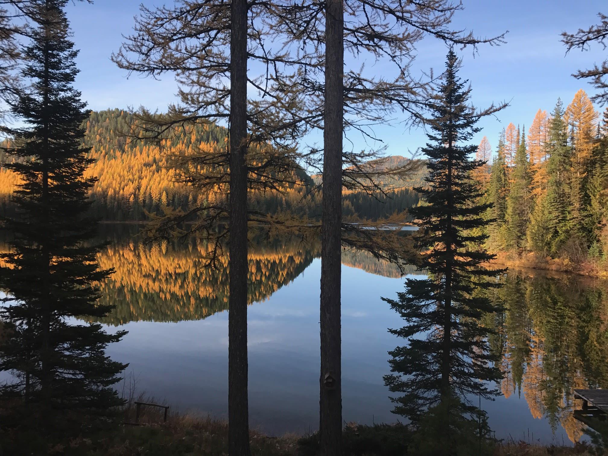 Spoon Lake is beautiful in the fall!