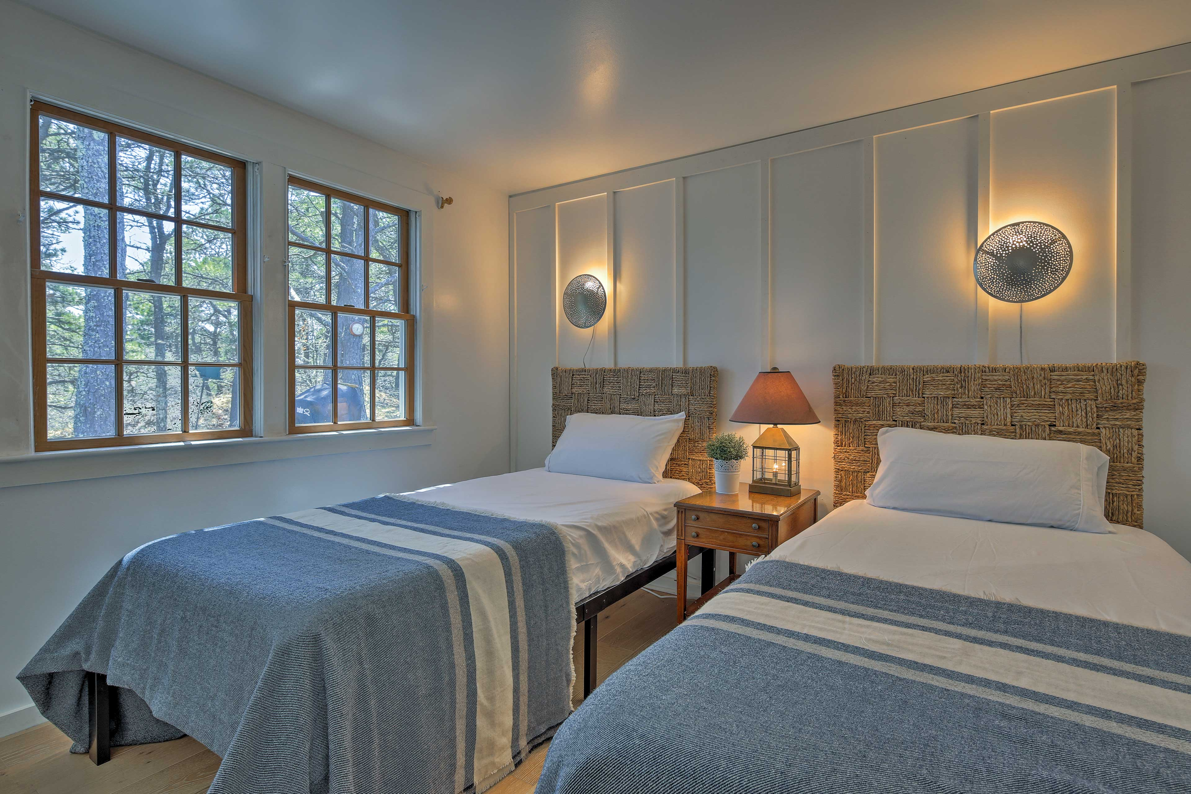 The third bedroom offers 2 twin XL beds.