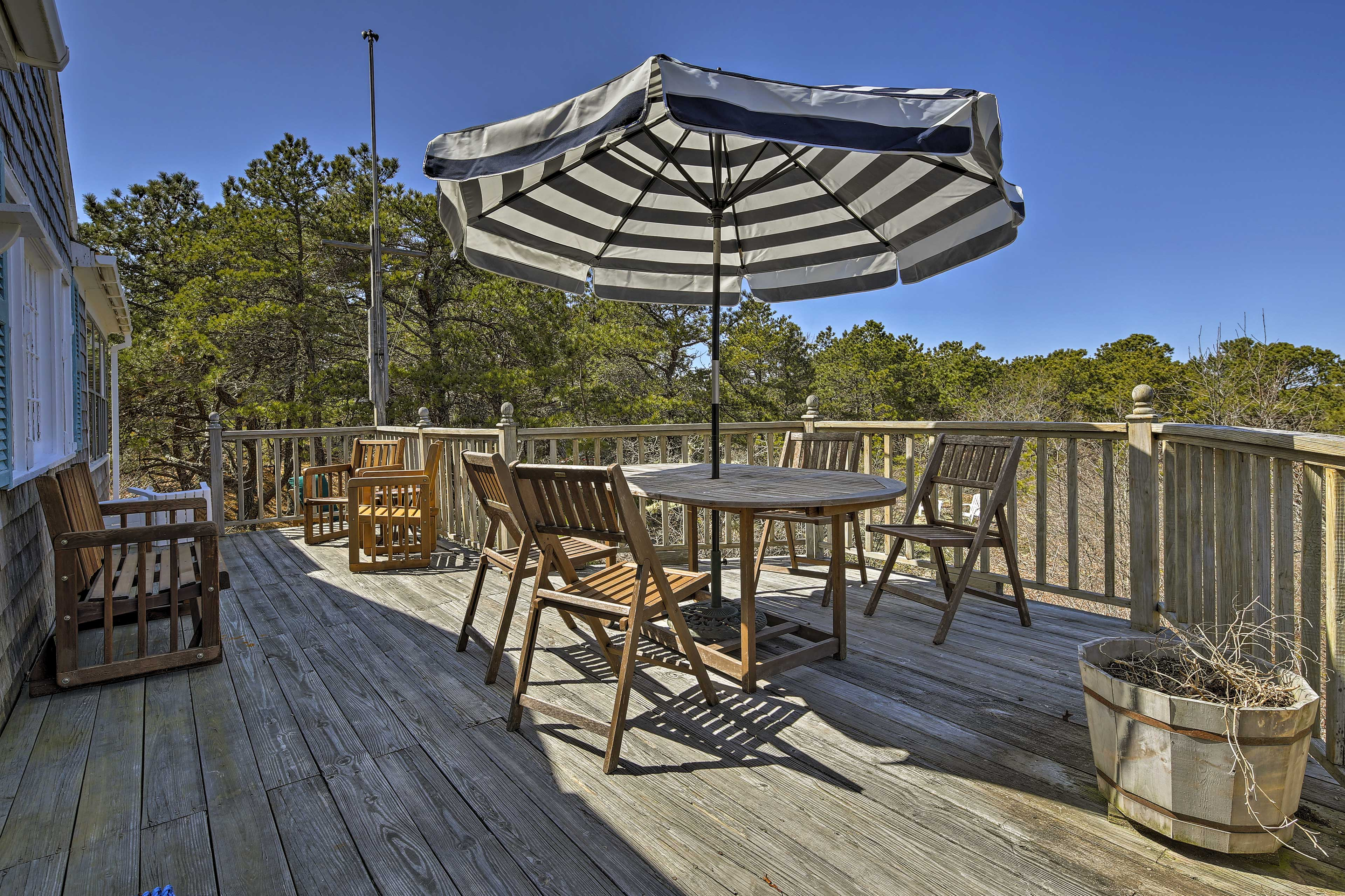 With multiple outdoor lounge areas, there's plenty of room for everyone.