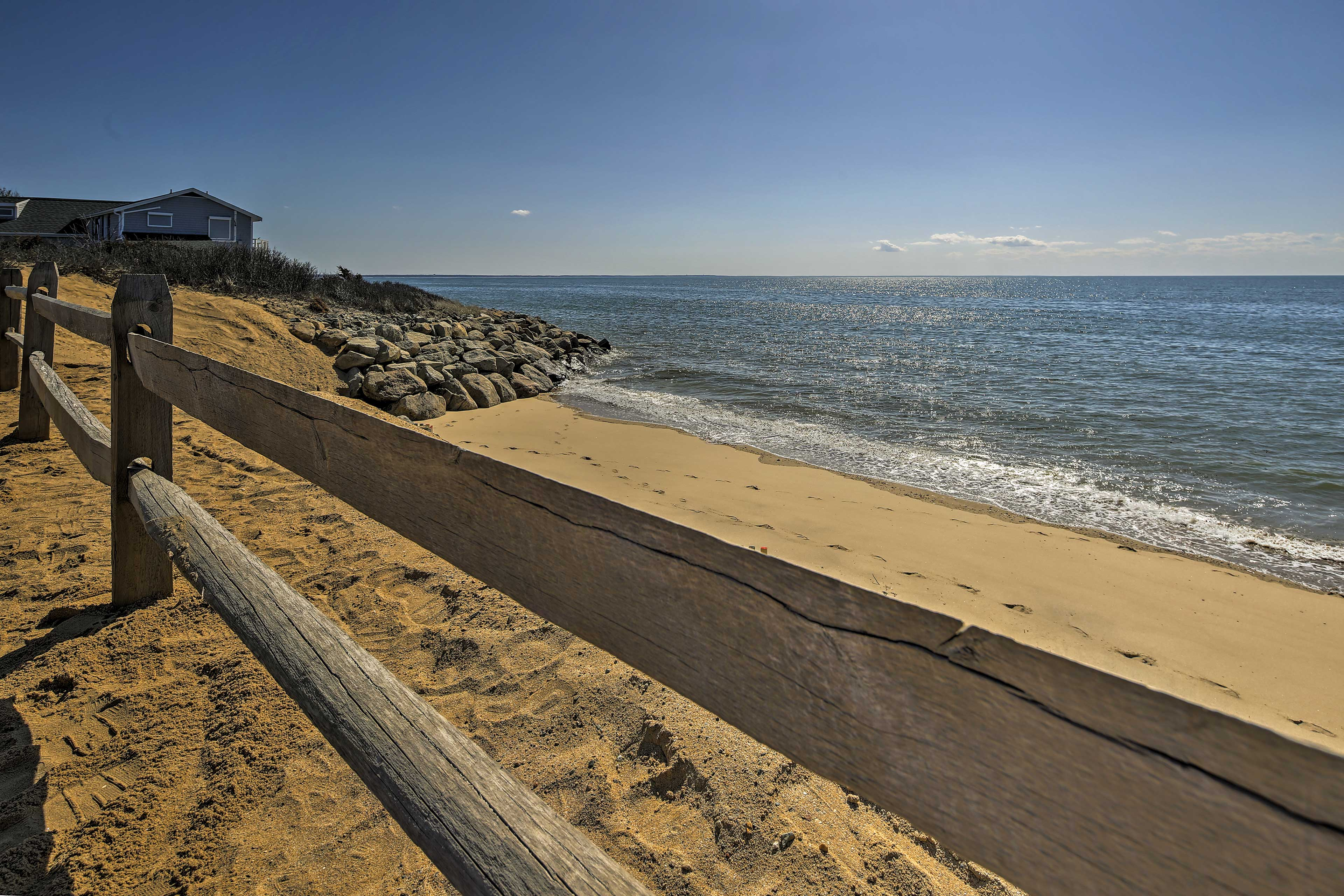 The sun, sand and surf await a short walk from your front door.
