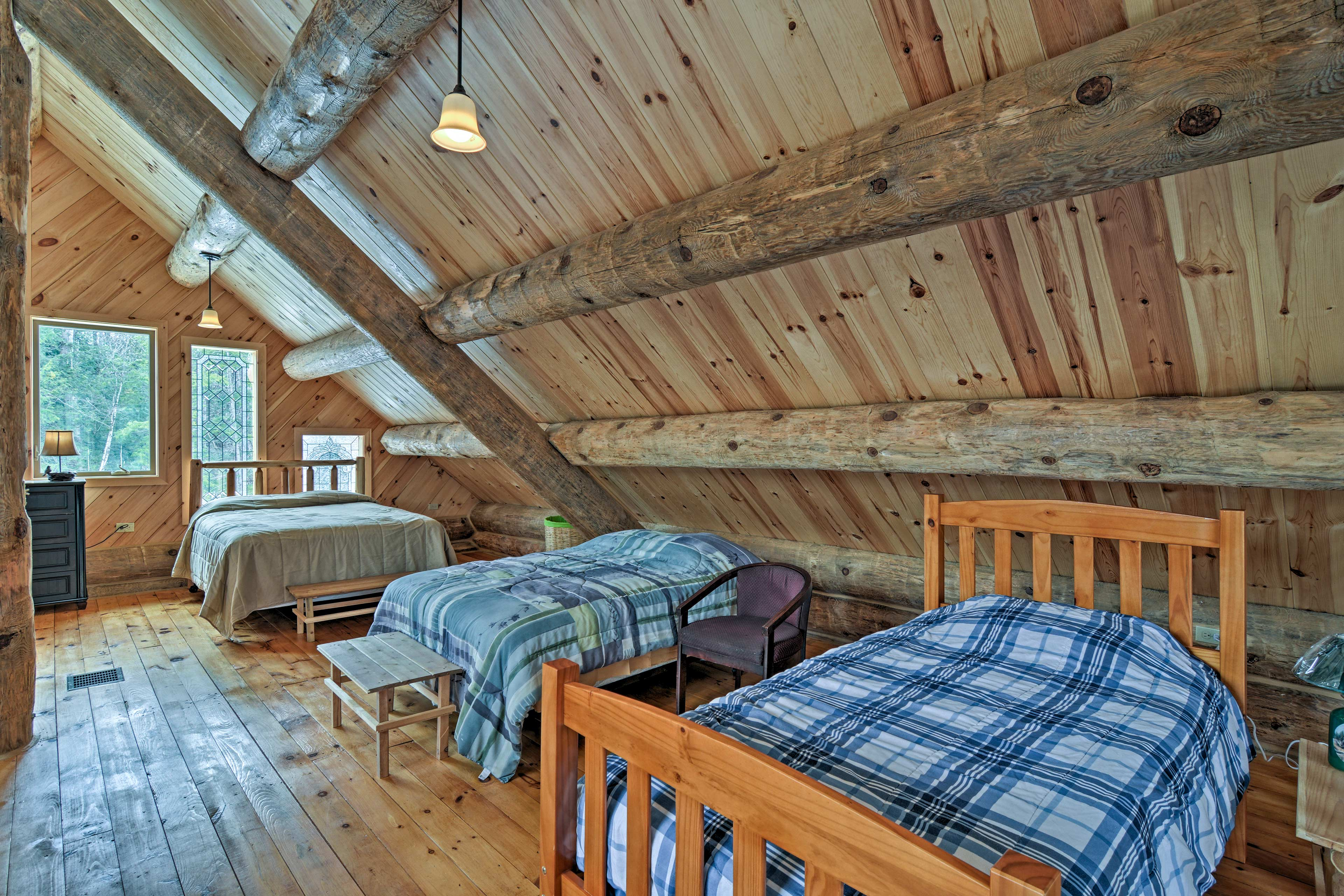 Head up to the loft where there's an assortment of sleeping arrangements!