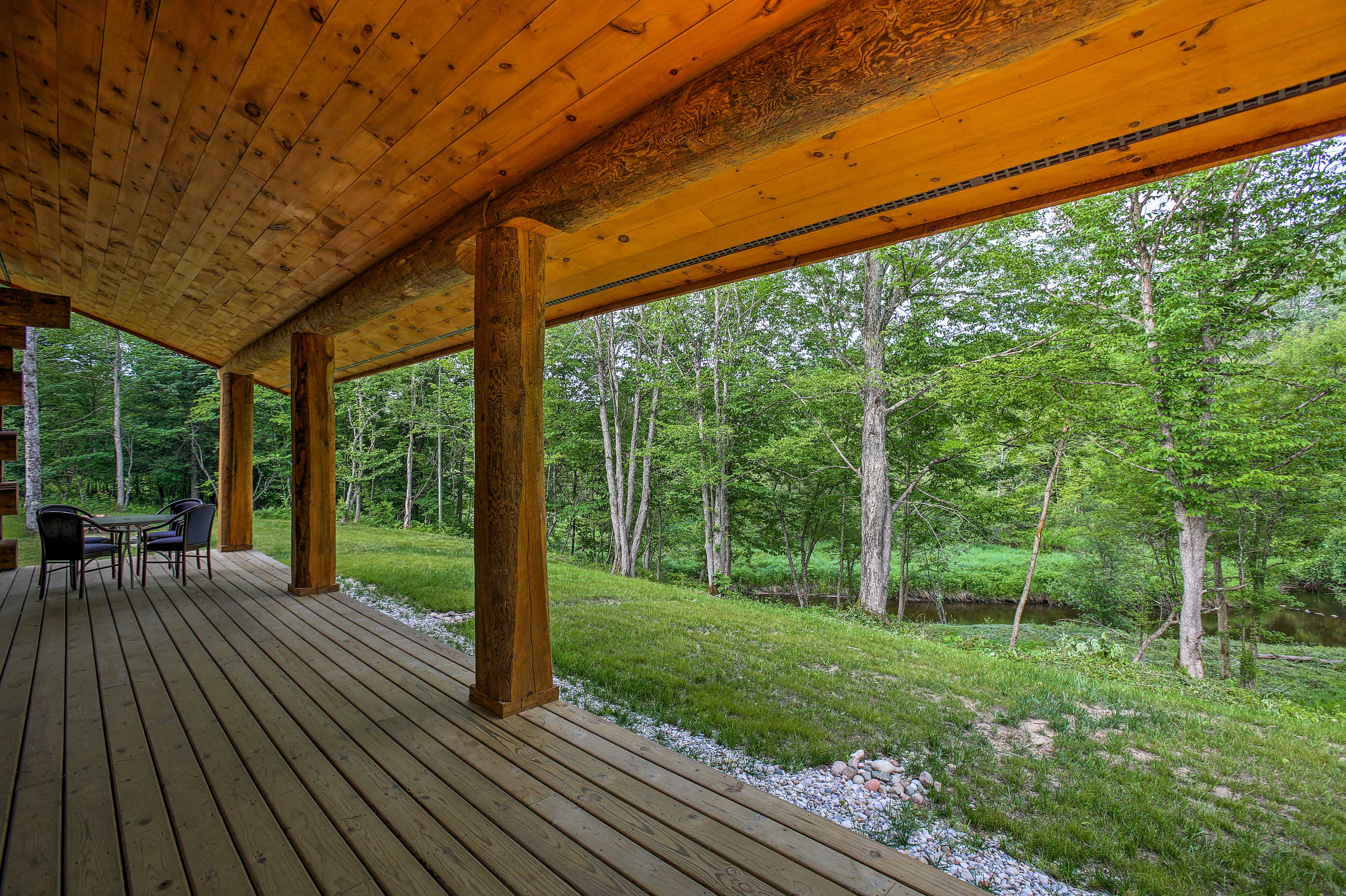 Enjoy beautiful views of the Pine River from your private deck.