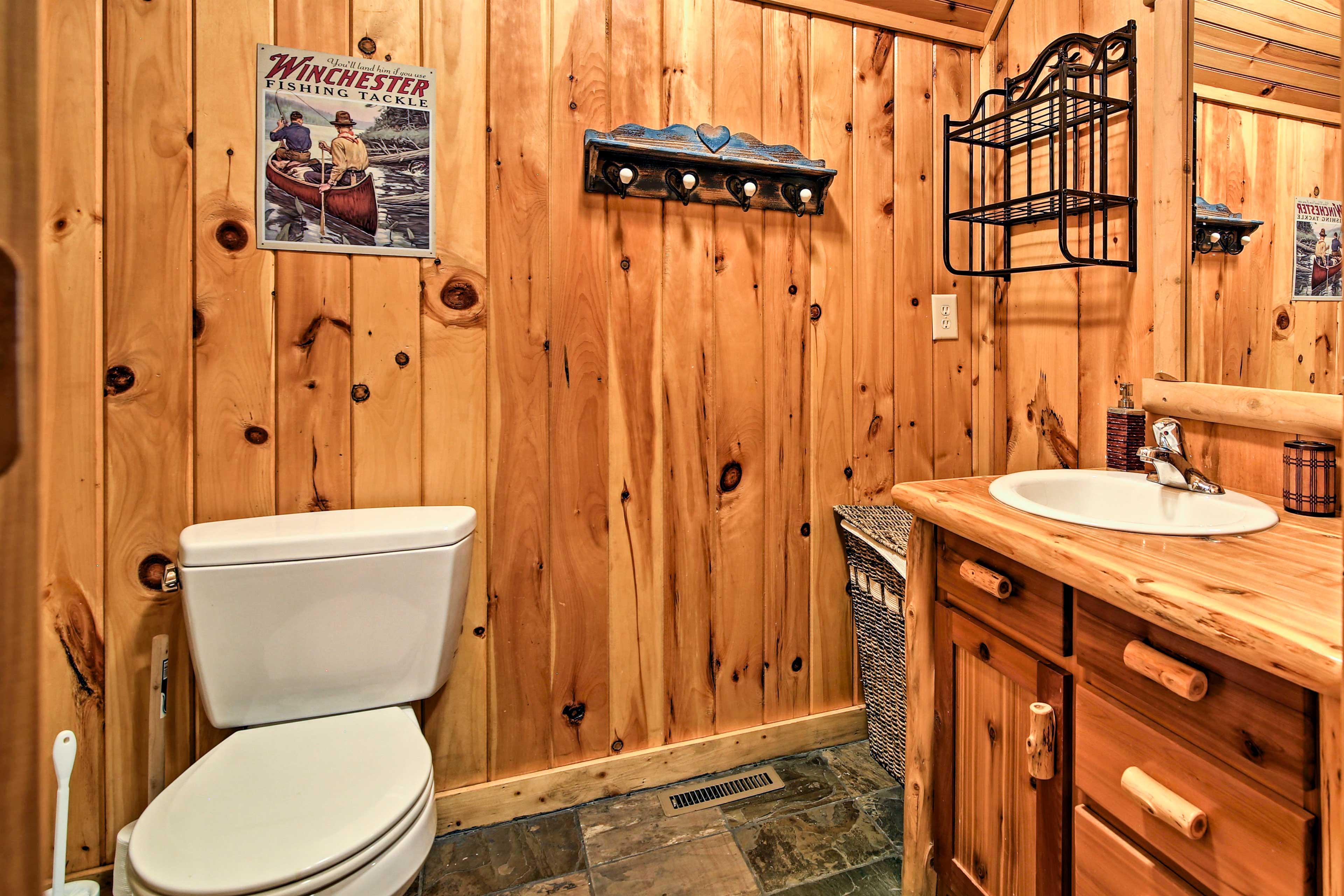 The second full bathroom.