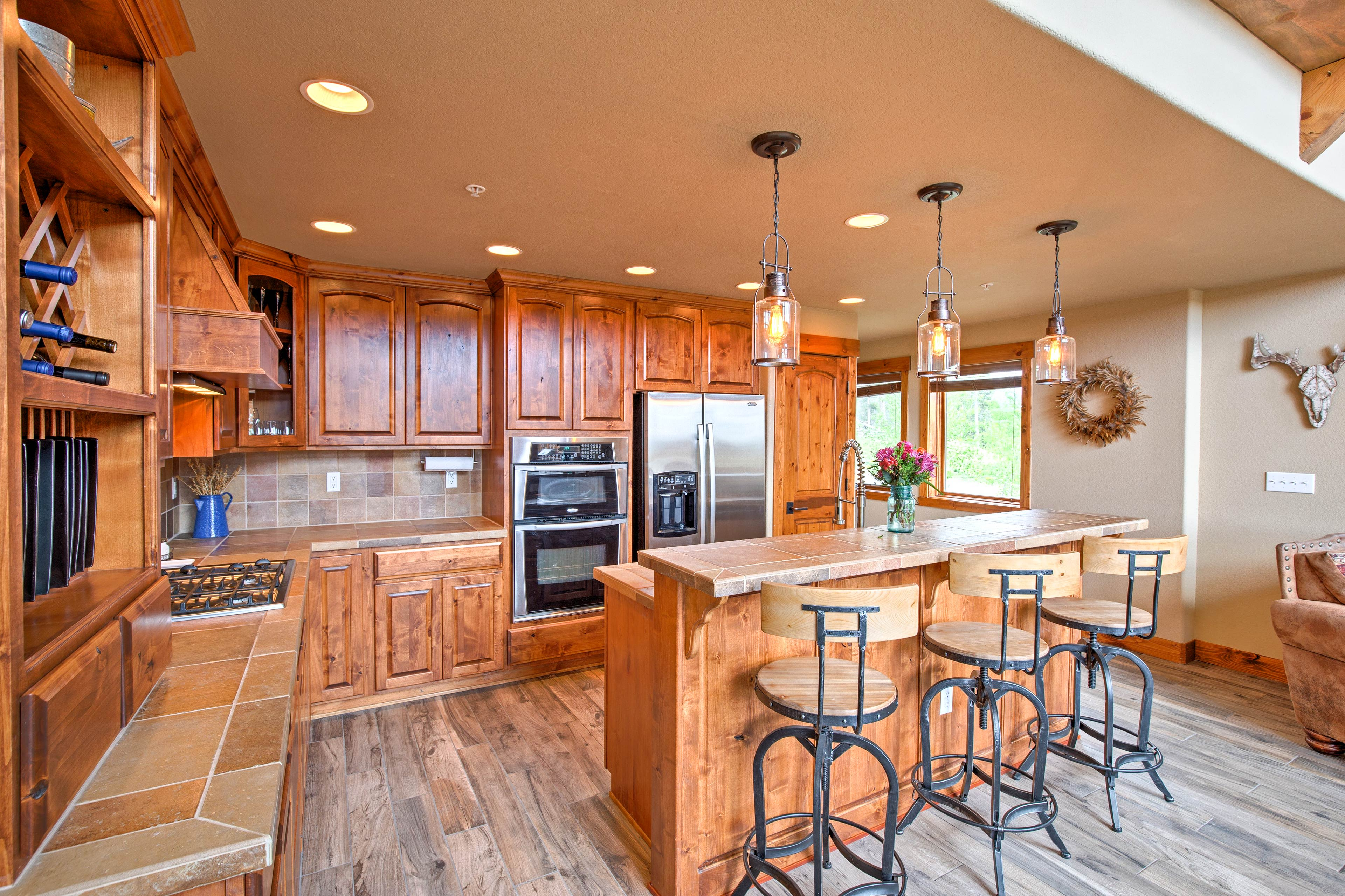 Prepare feasts in the fully equipped, well-stocked kitchen.