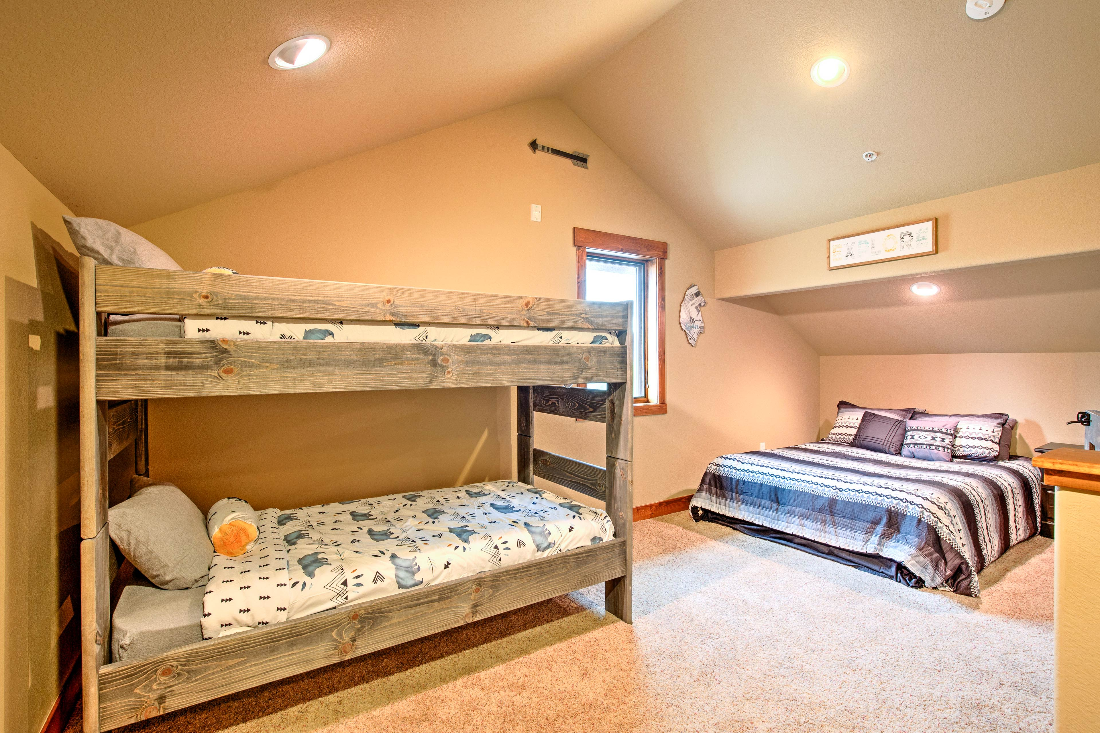 There's also a queen bed in this loft space for more sleeping accommodations.