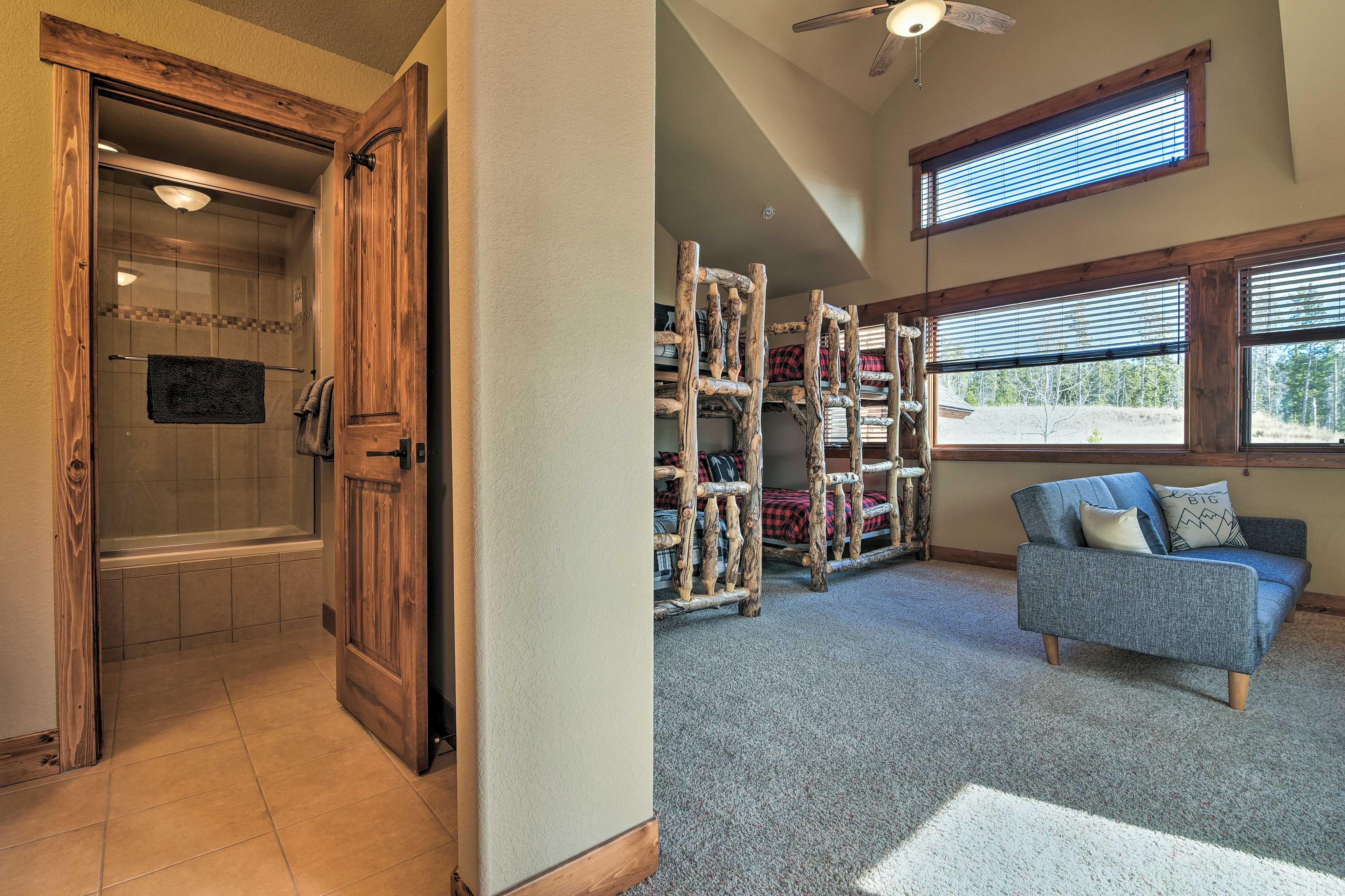 Enjoy the perks of an adjacent en-suite bathroom.