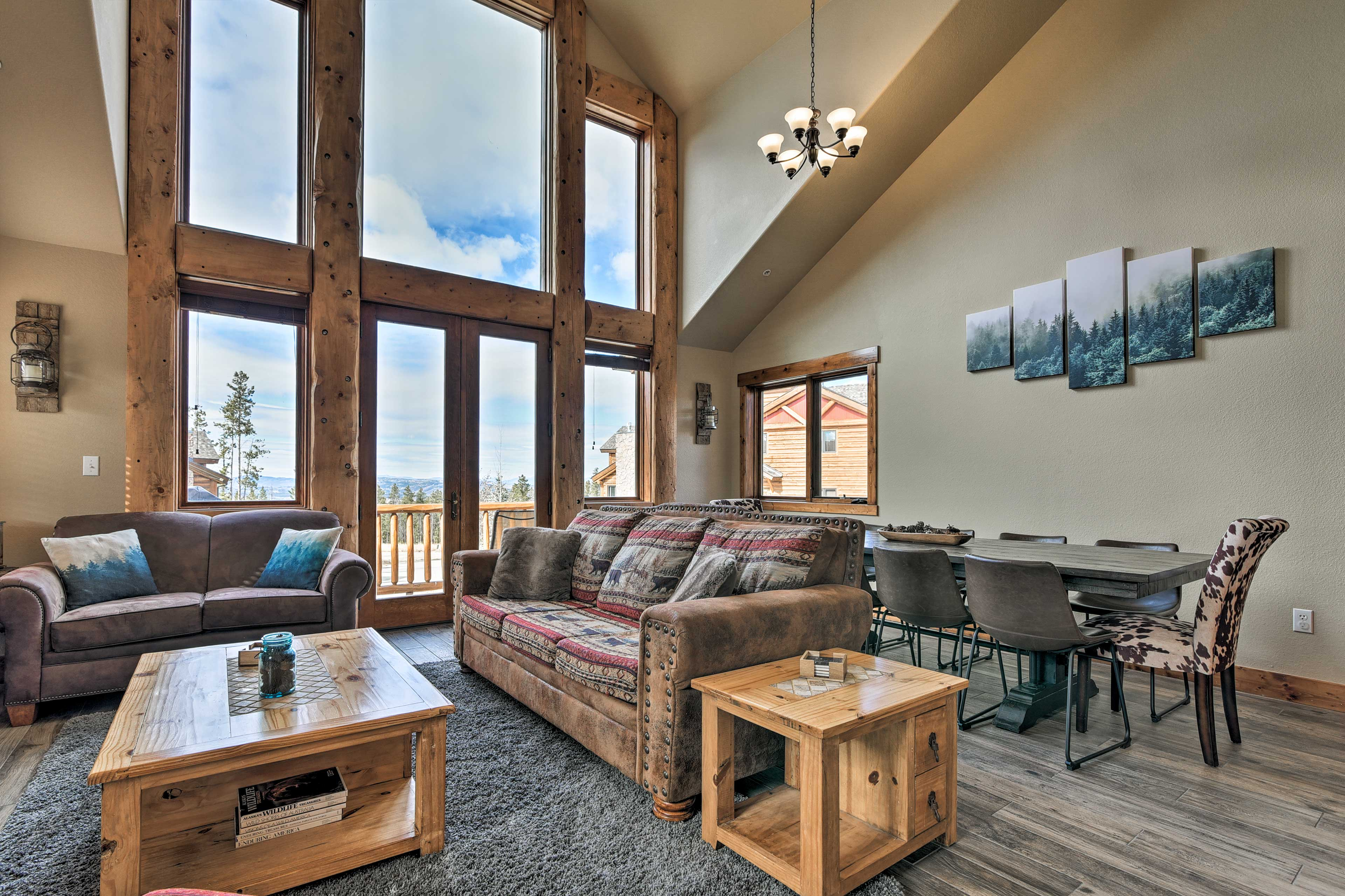 Get cozy in front of the gas fireplace.
