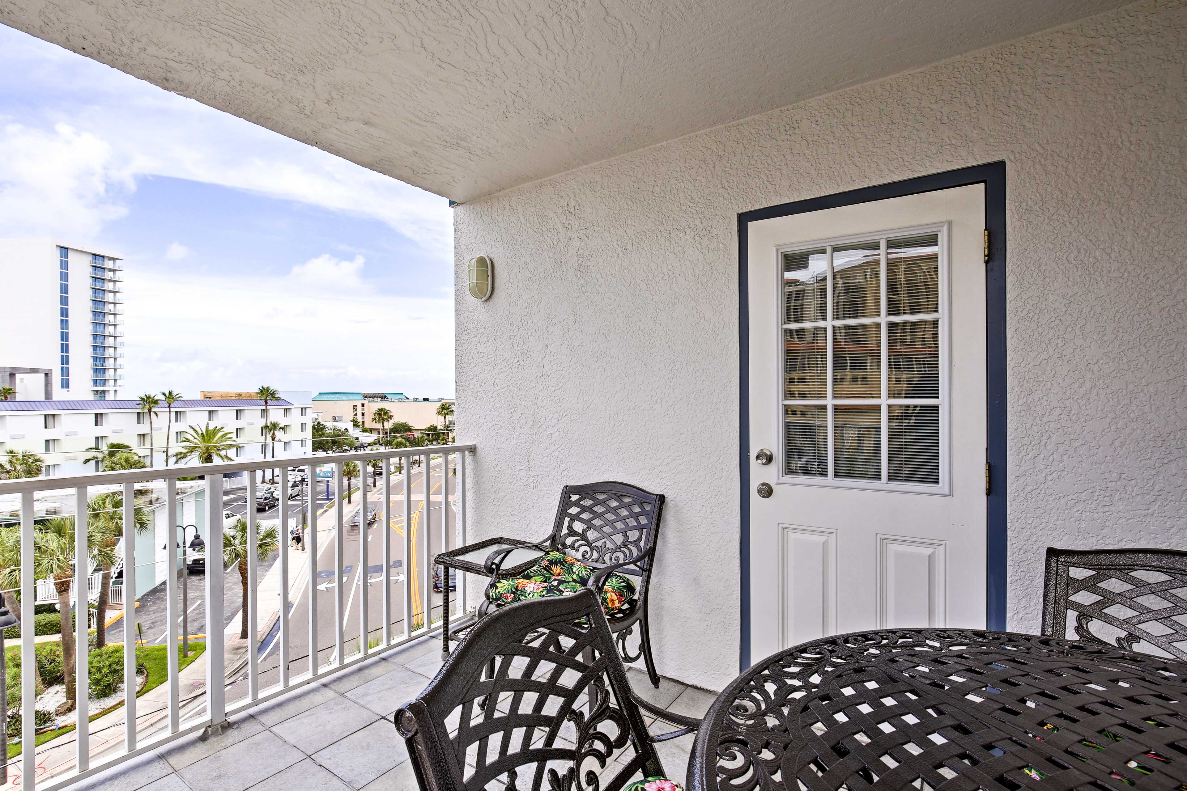 Enjoy ocean and harbor vistas from the comfort of your private balcony.