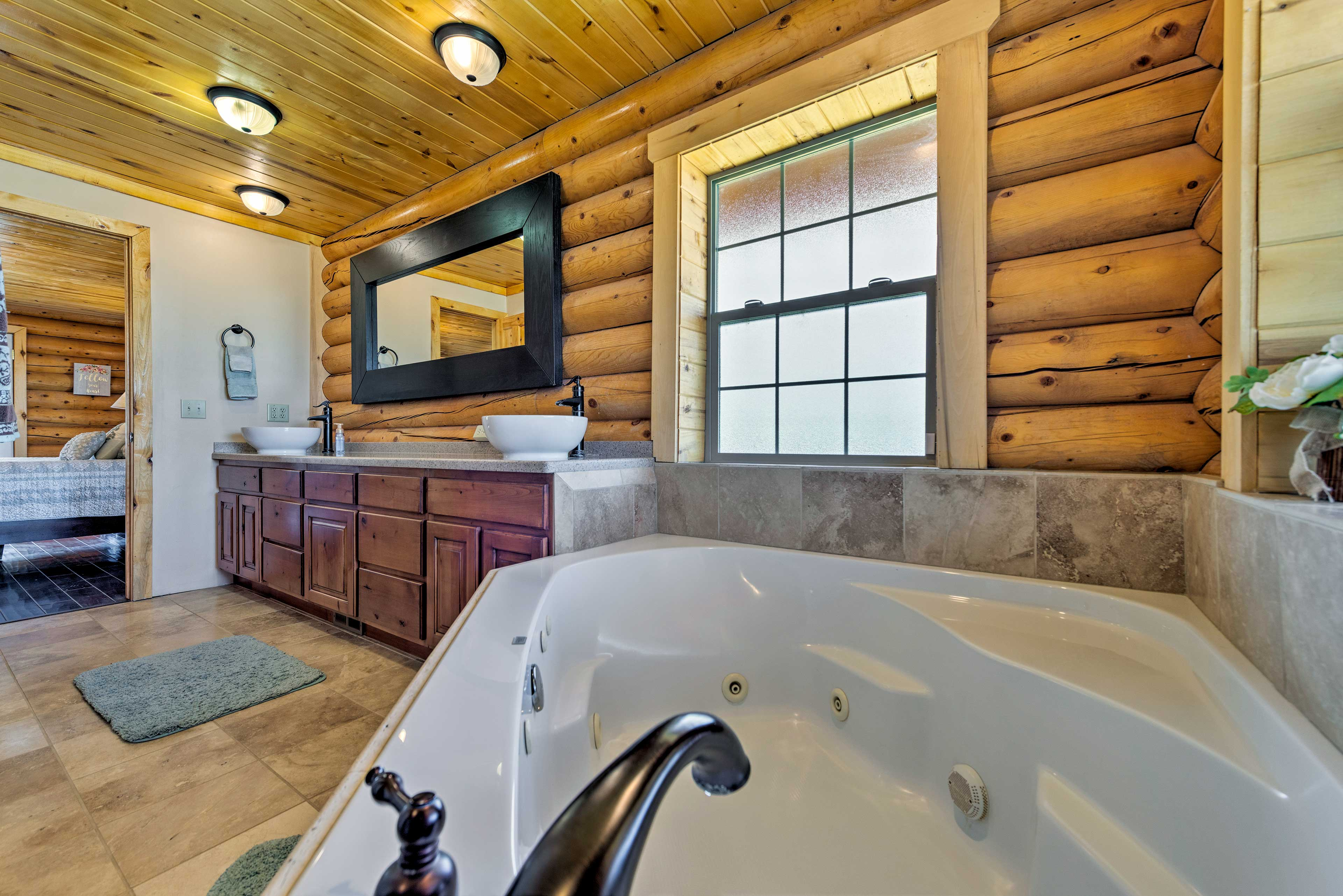End the night with a jacuzzi bath.