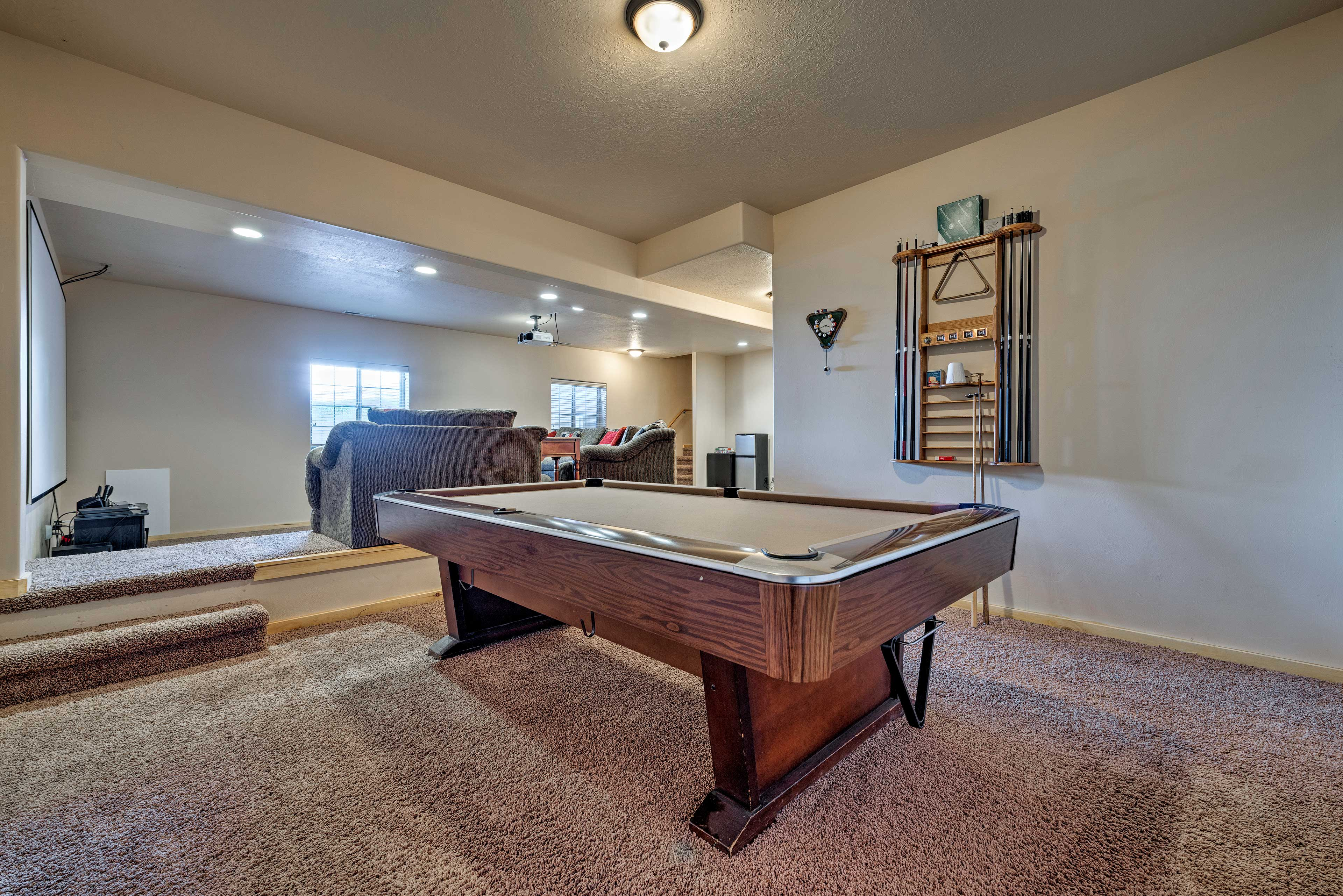 Host a pool tournament in the basement!