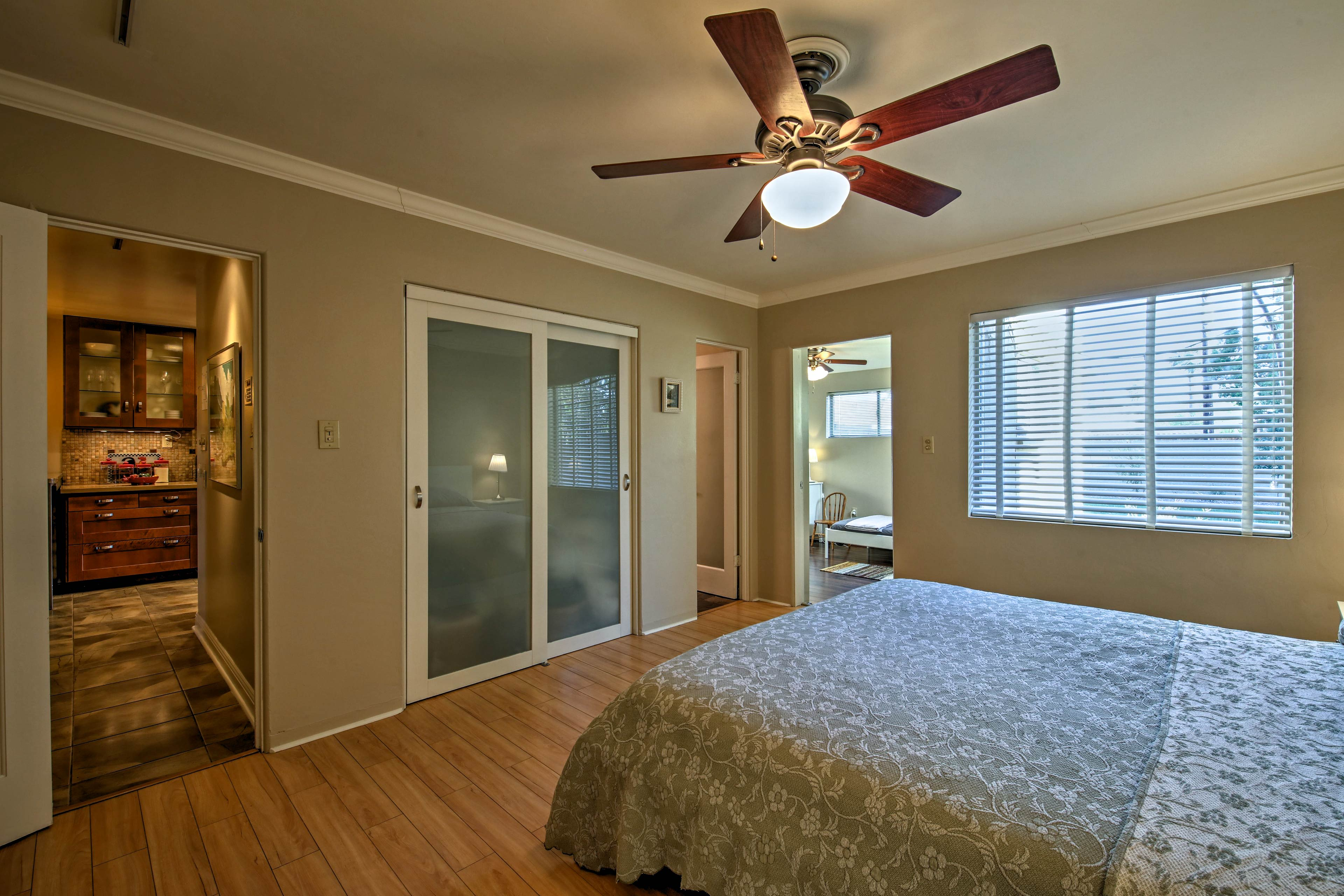 Access to the fourth bedroom makes this room ideal for families.