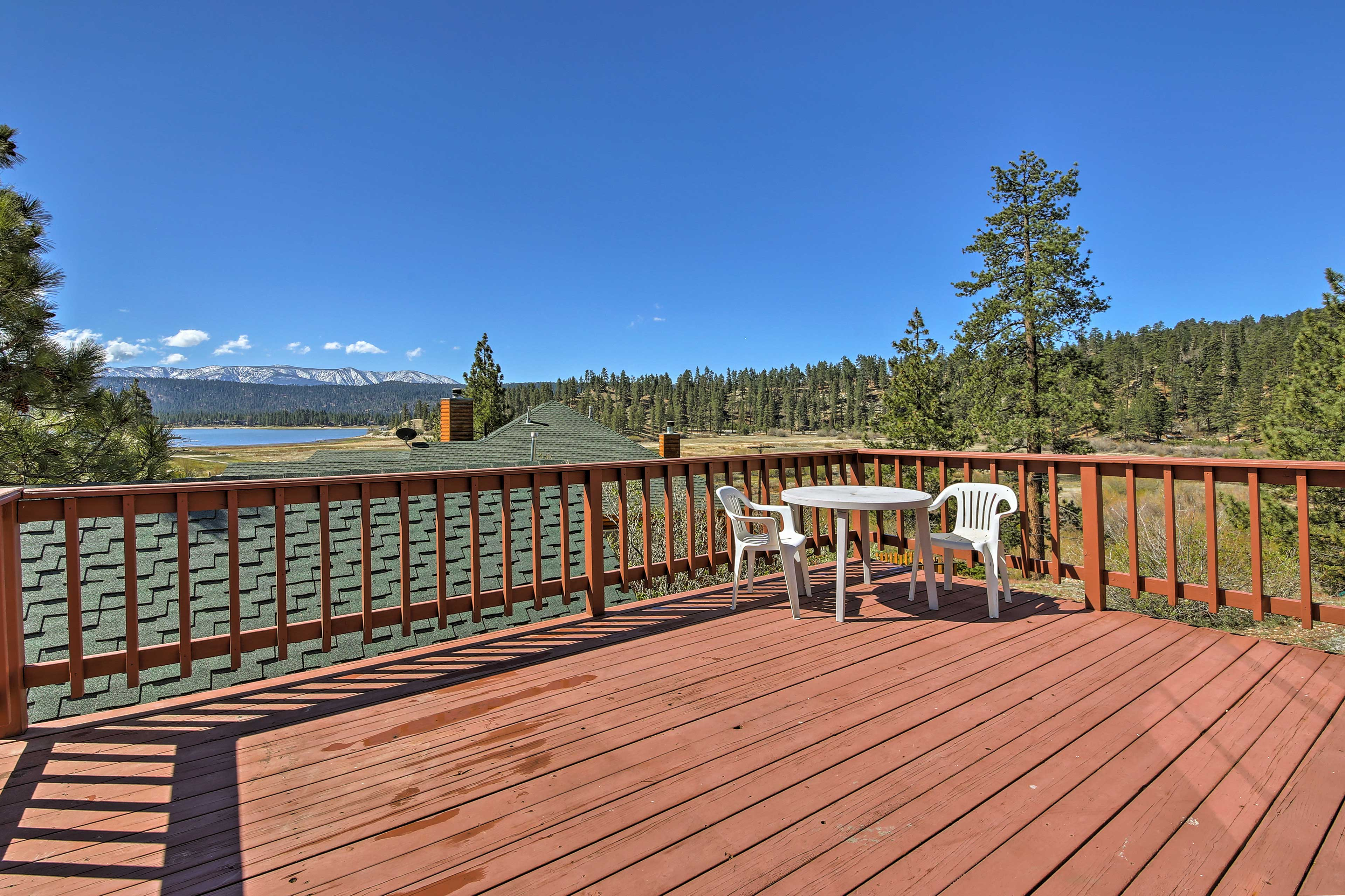Soak up the sun and mountain air from the deck with views of Big Bear Lake!