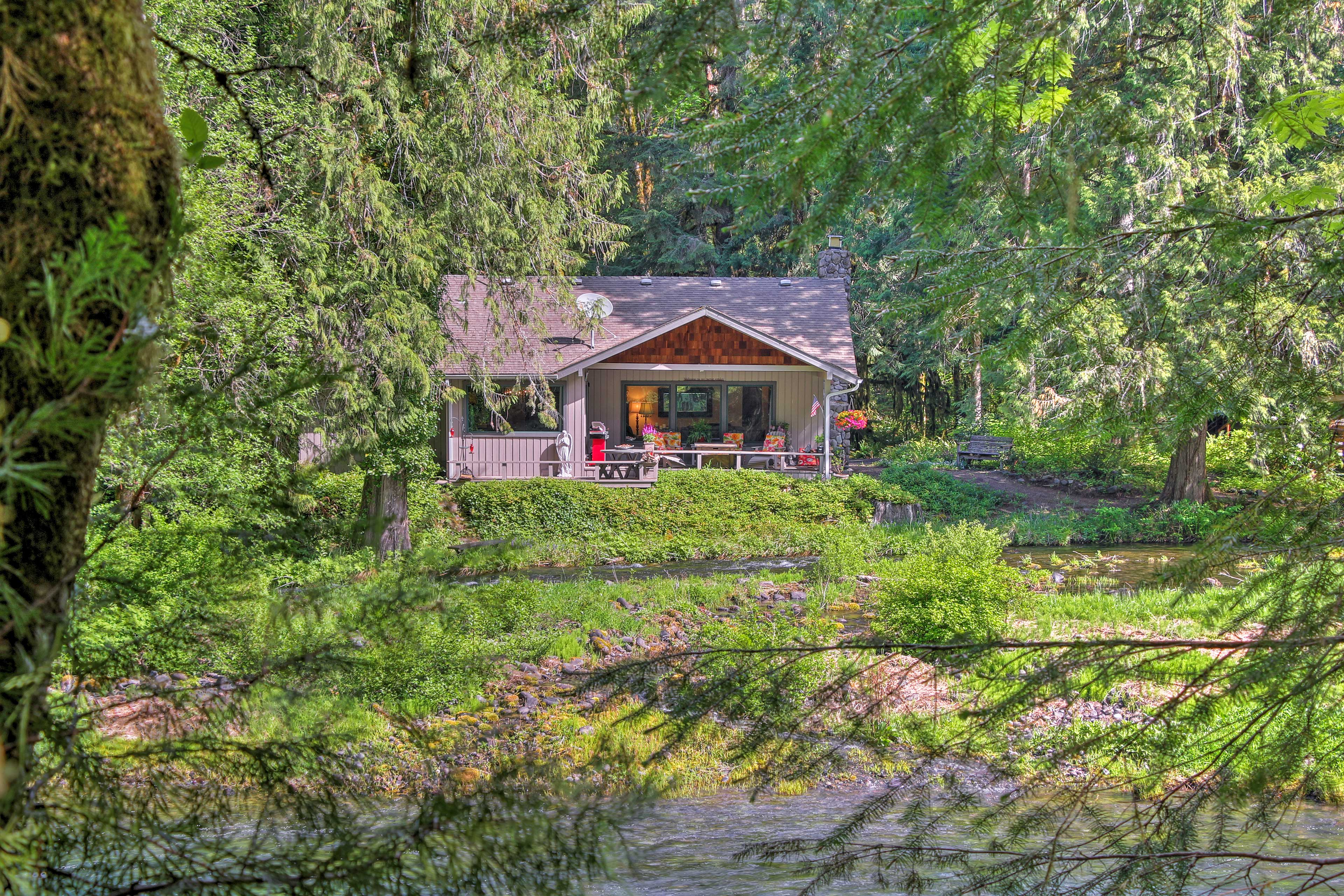 Hideaway for a romantic weekend in this adorable cabin.