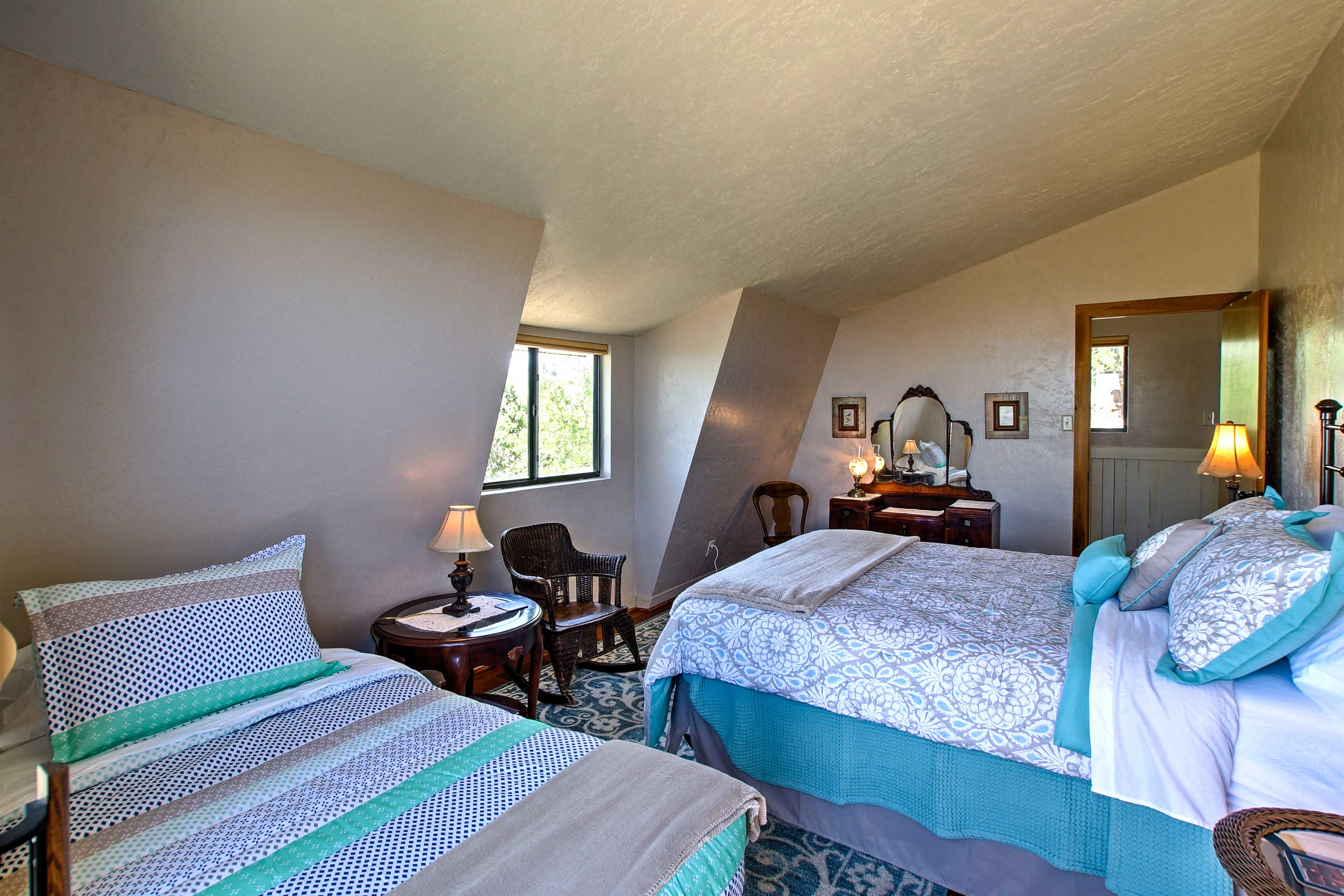 This room is perfect for small families sharing a room on holiday!
