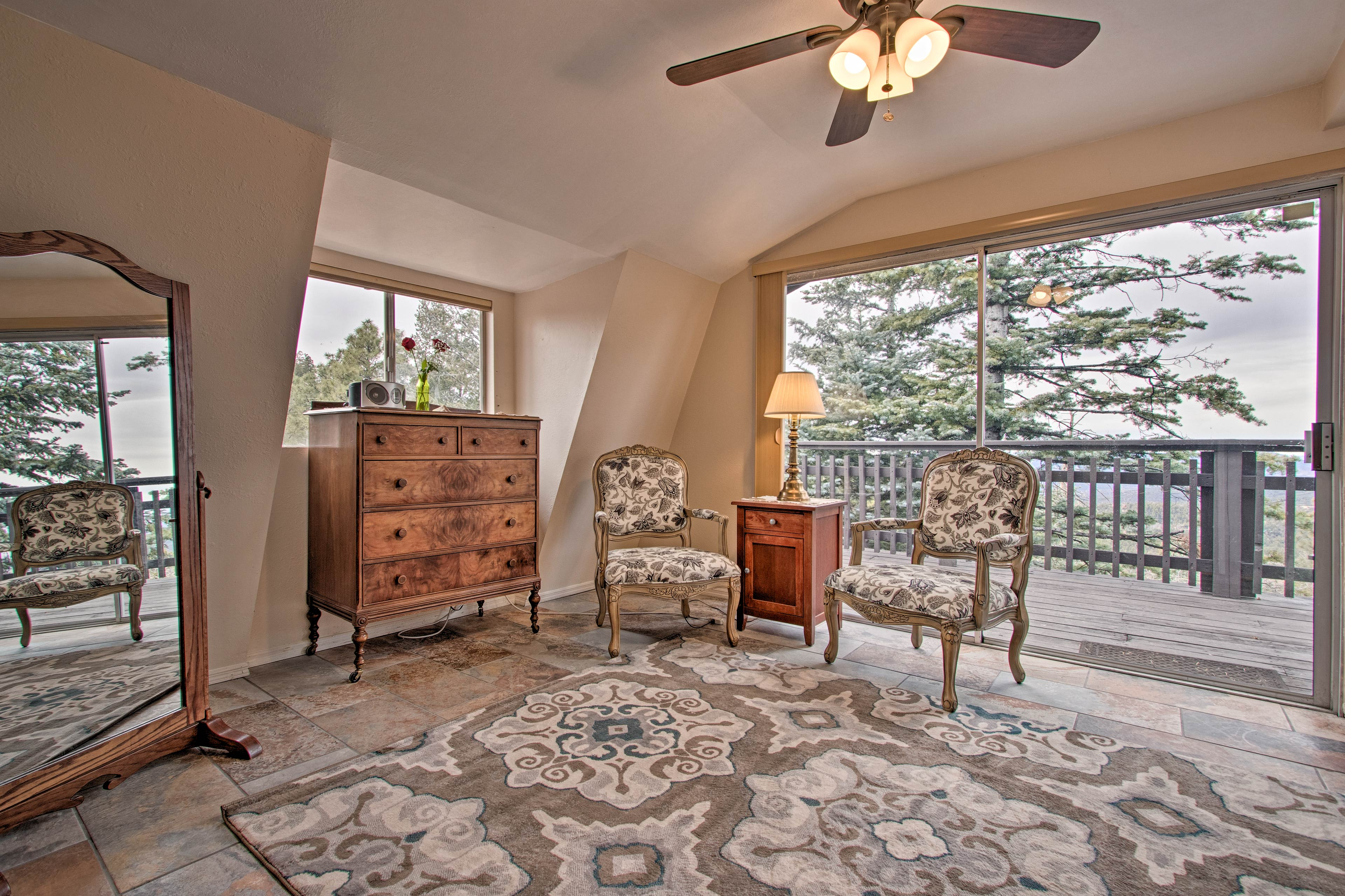 Head upstairs to the master bedroom!