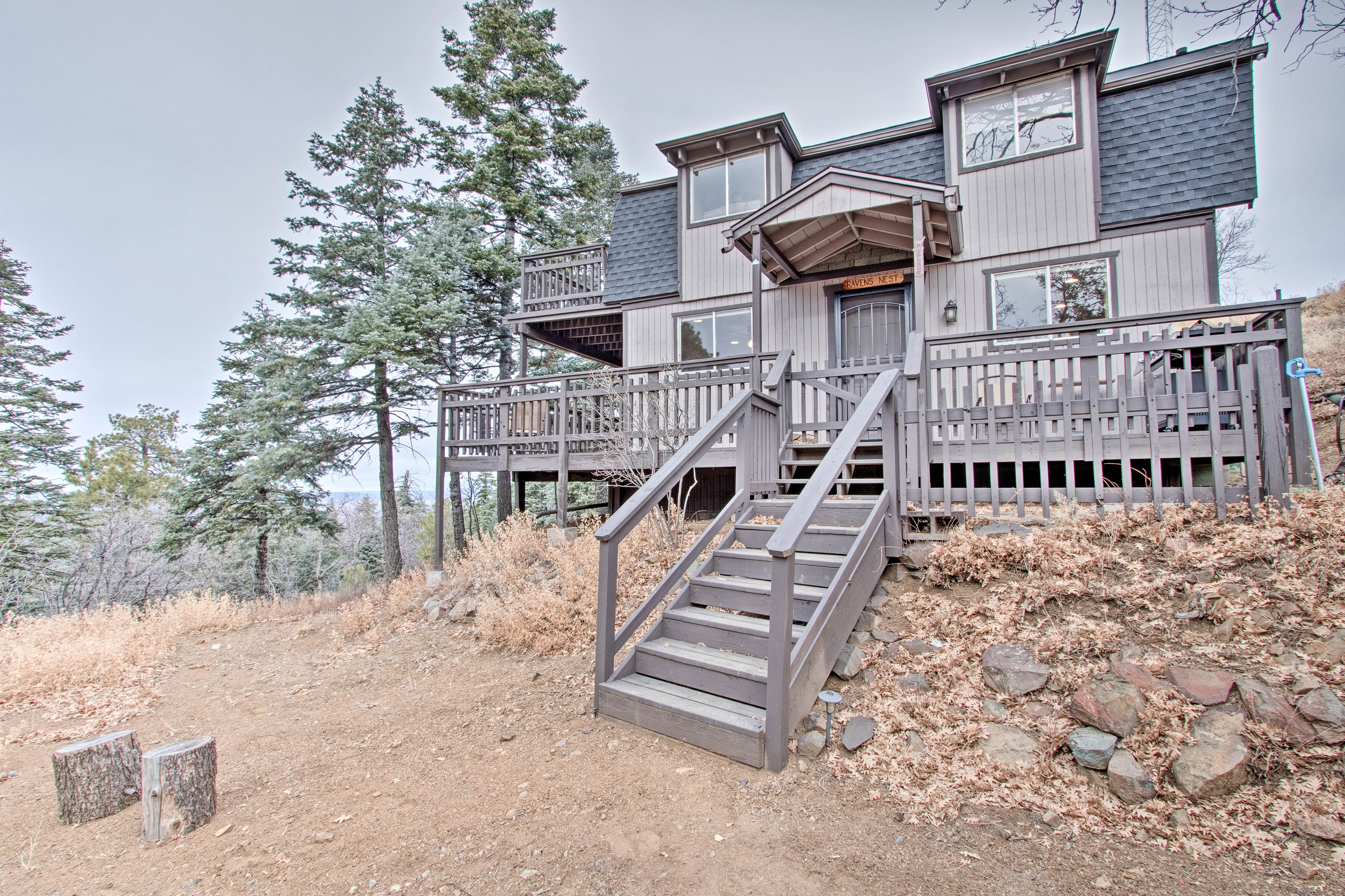 This 3-bedroom, 2-bath home is ideally located in the Prescott National Forest.