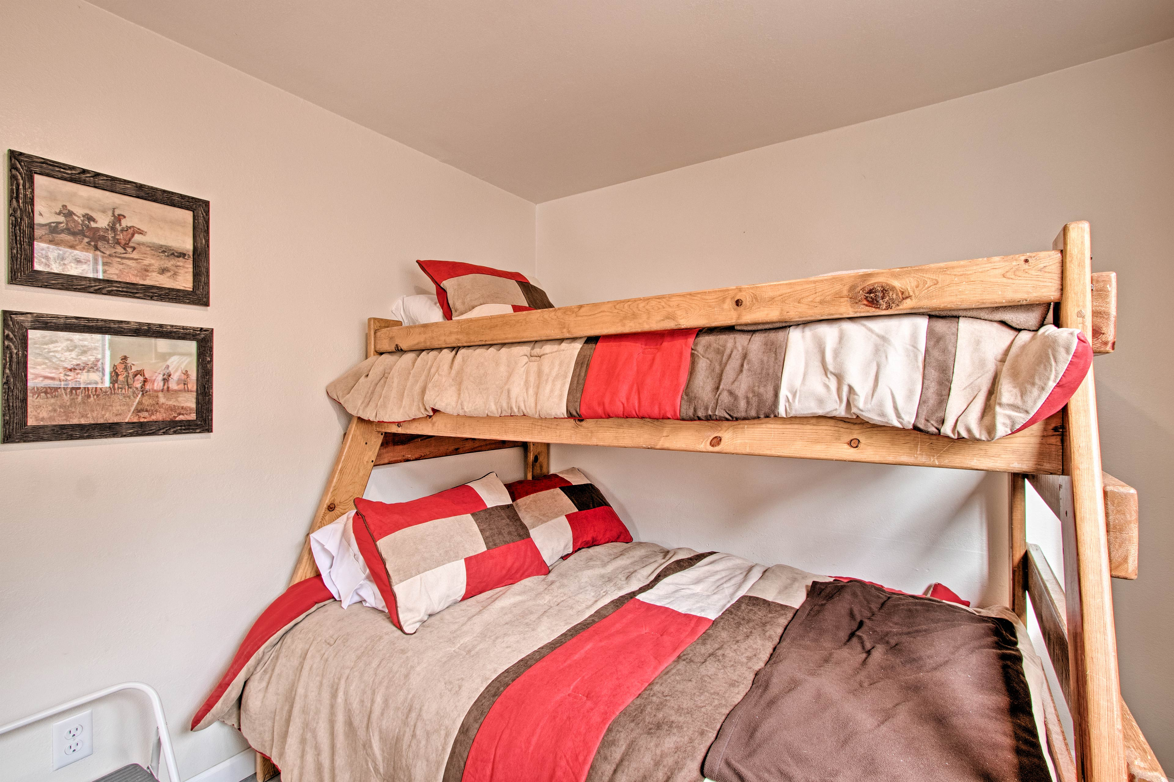 Kids will love this twin-over-full bunk bed.