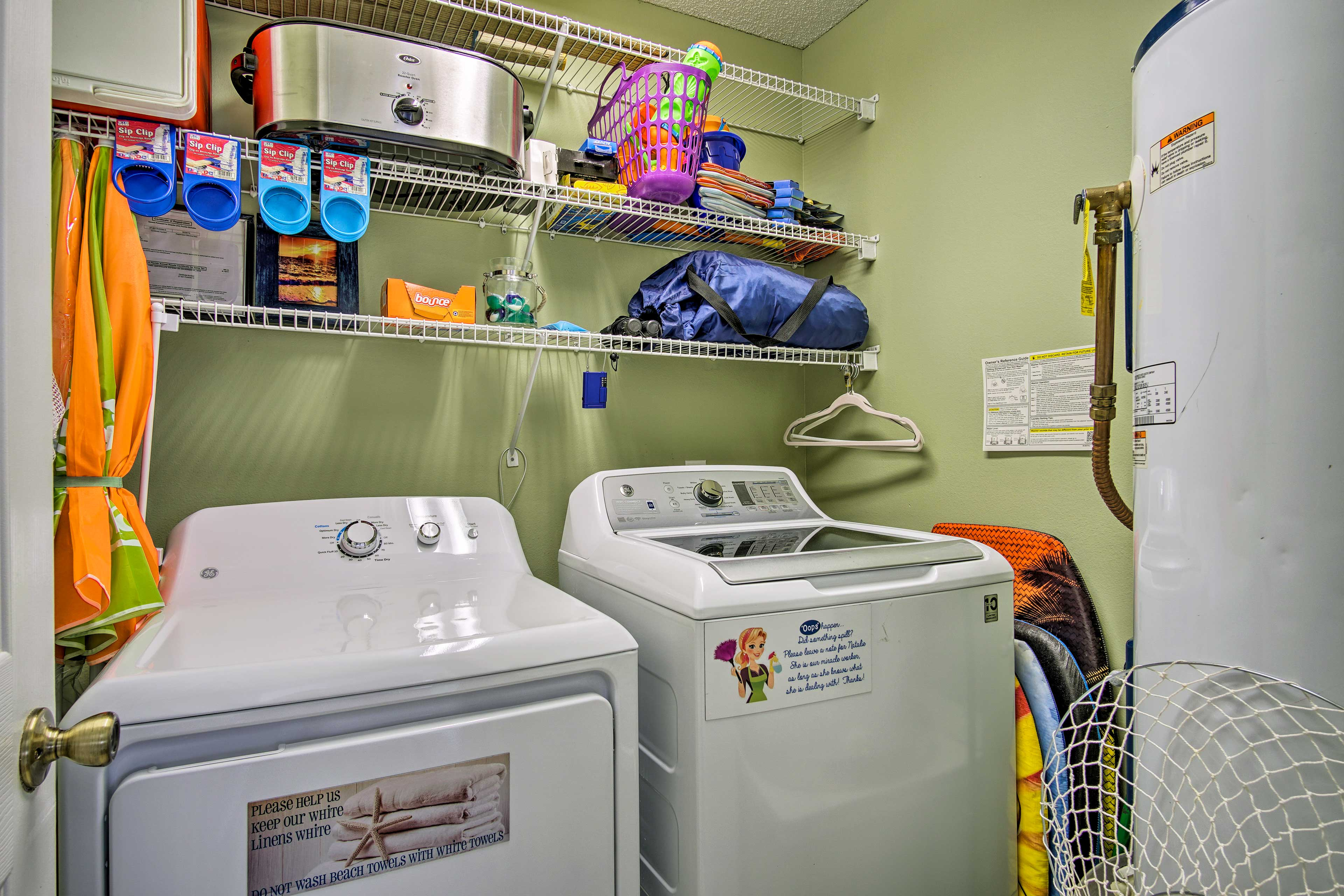Rinse off those dirty clothes before another adventurous day!