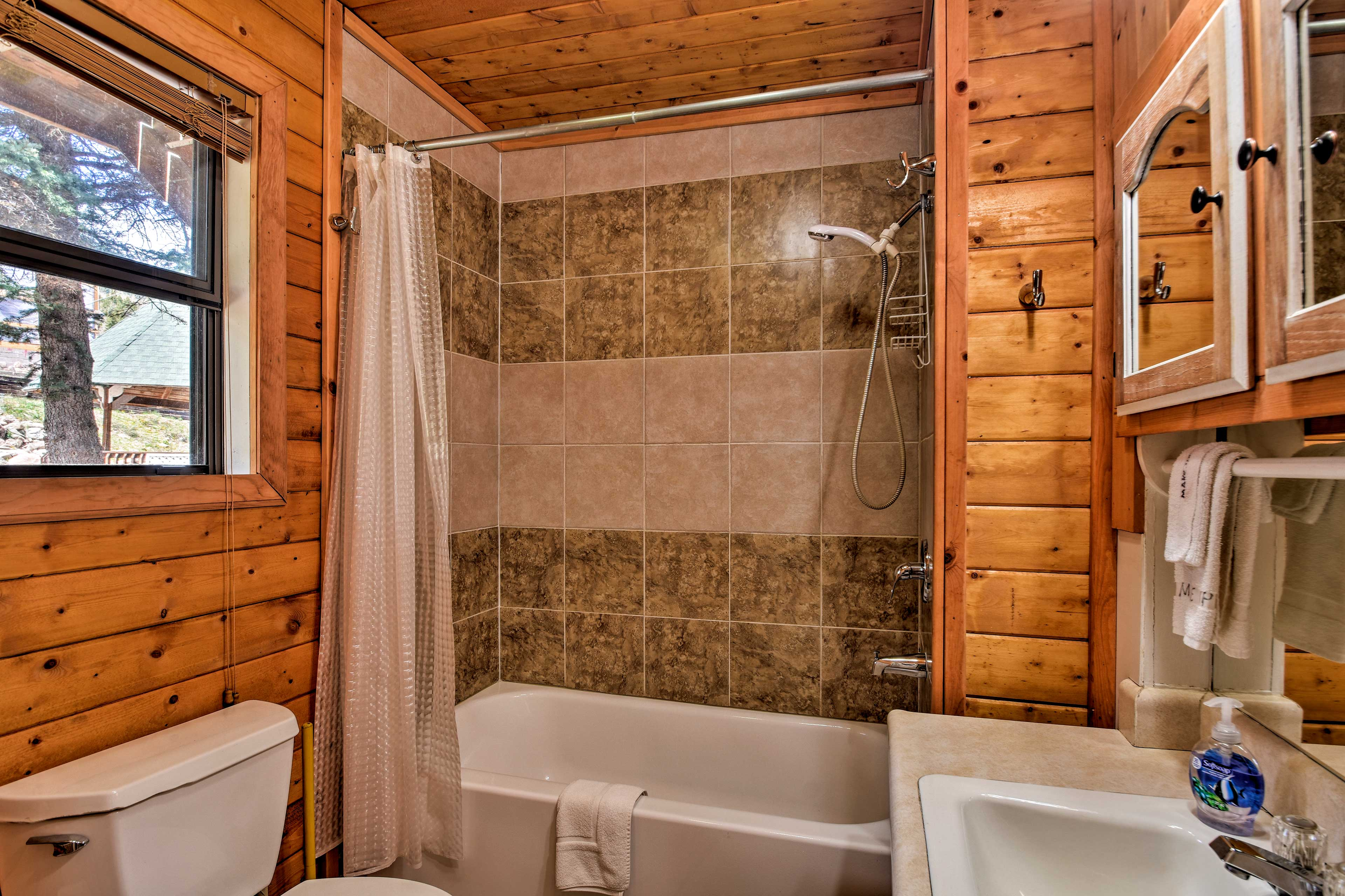 Take a quick shower or a long bath.