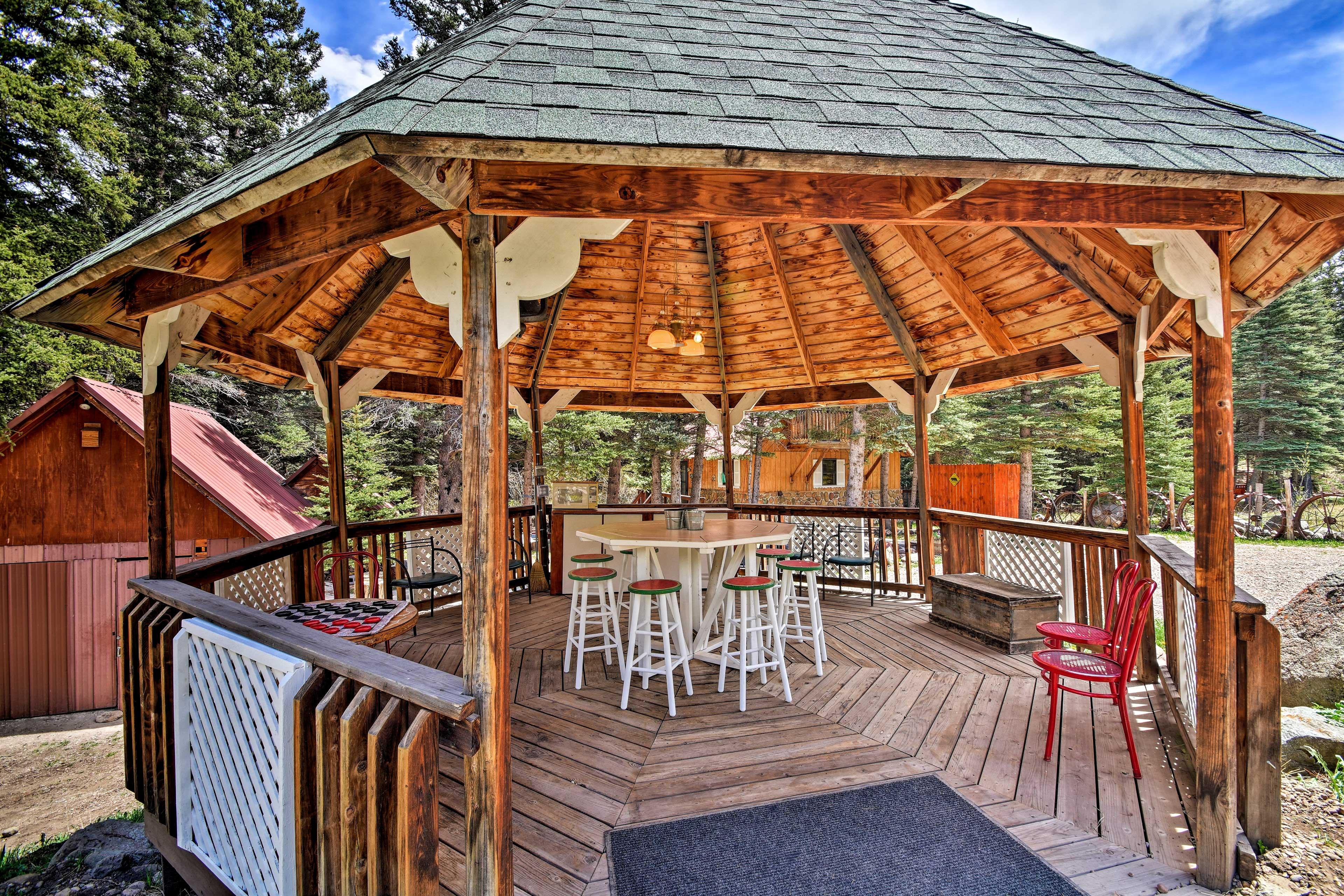 Host a backyard barbecue in the gazebo!