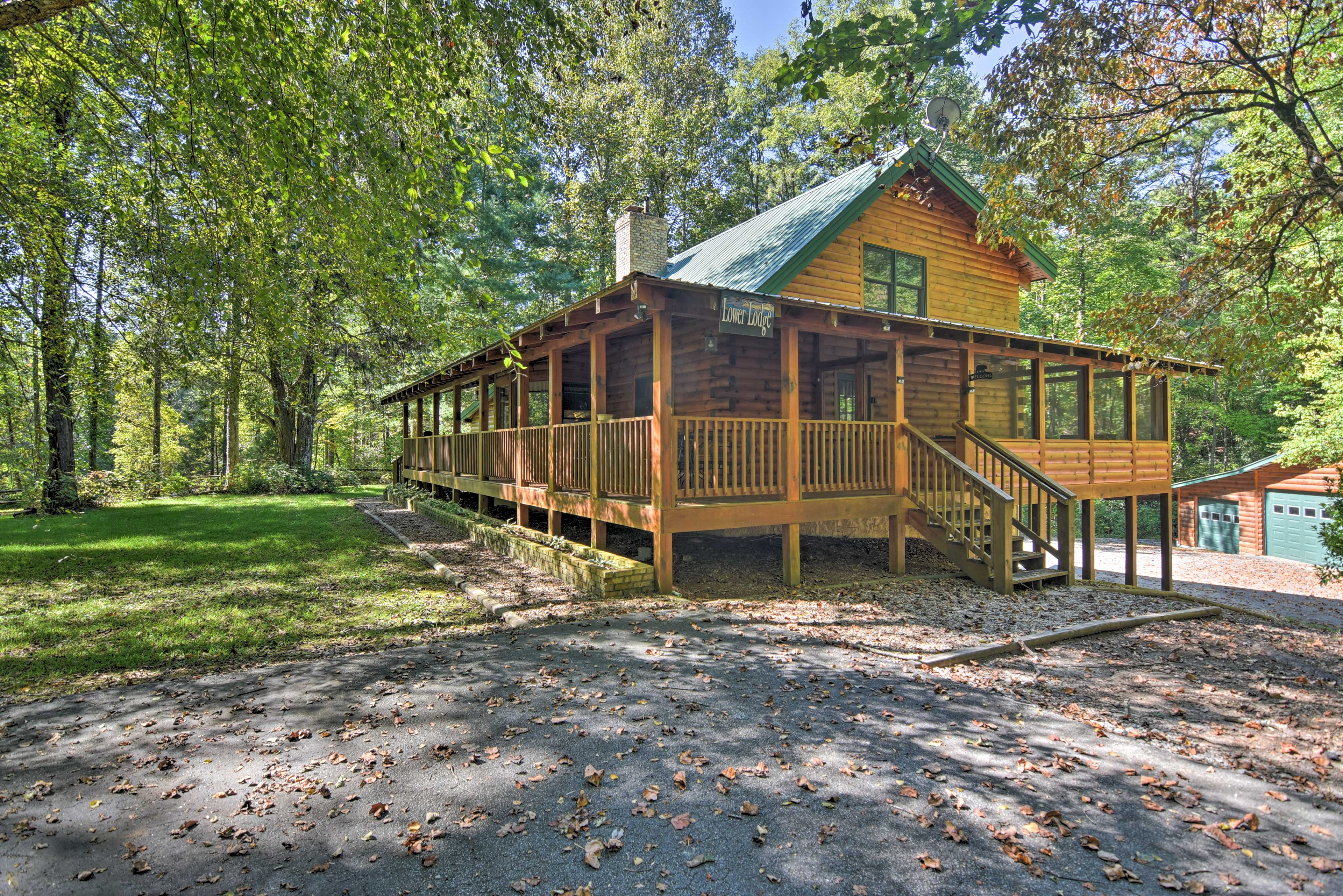 The Lower Lodge sleeps up to 12 guests outside Gorges State Park in Brevard.