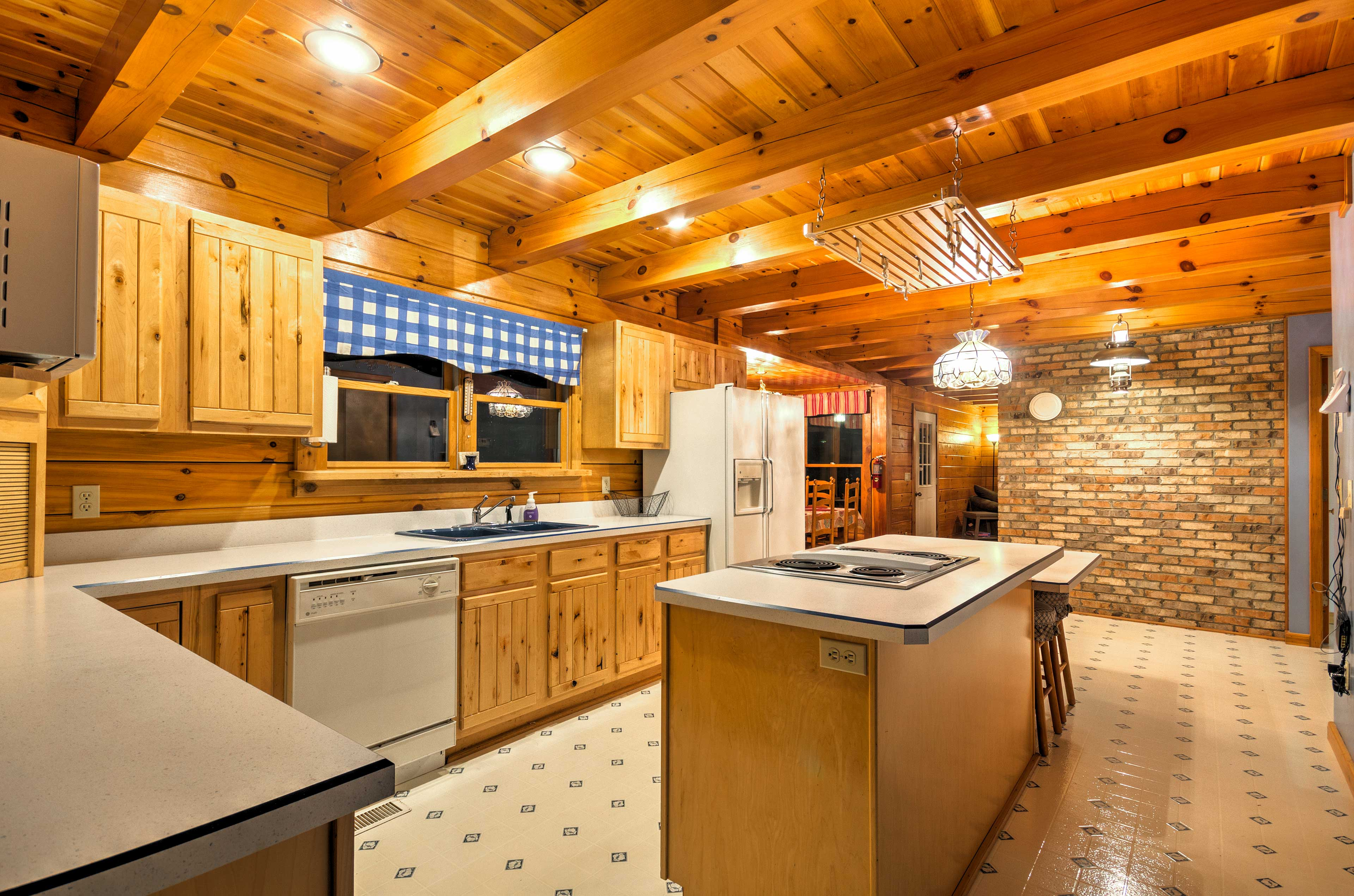 Whip up gourmet recipes in the fully equipped kitchen.