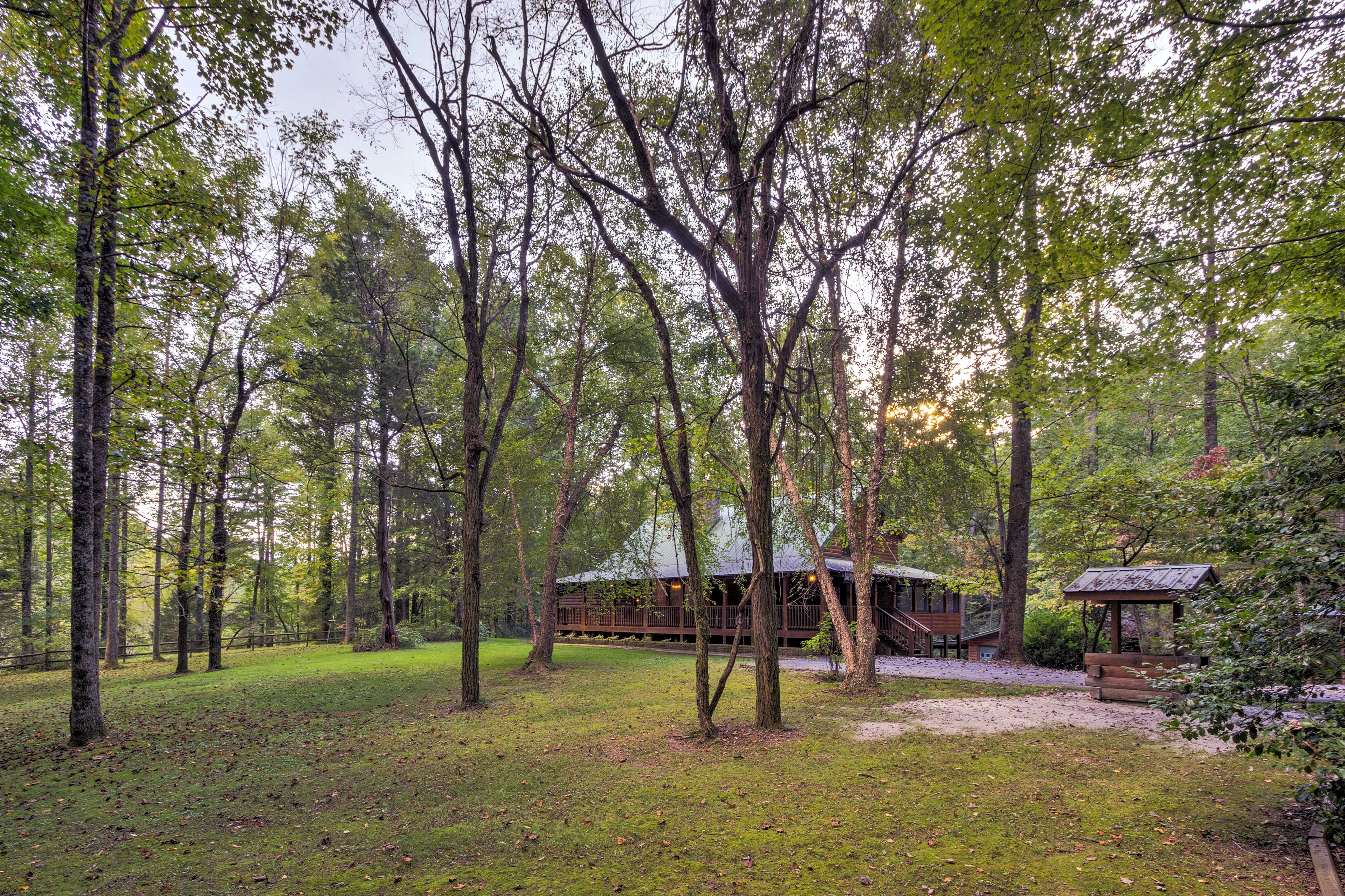 Welcome to your wooded paradise!