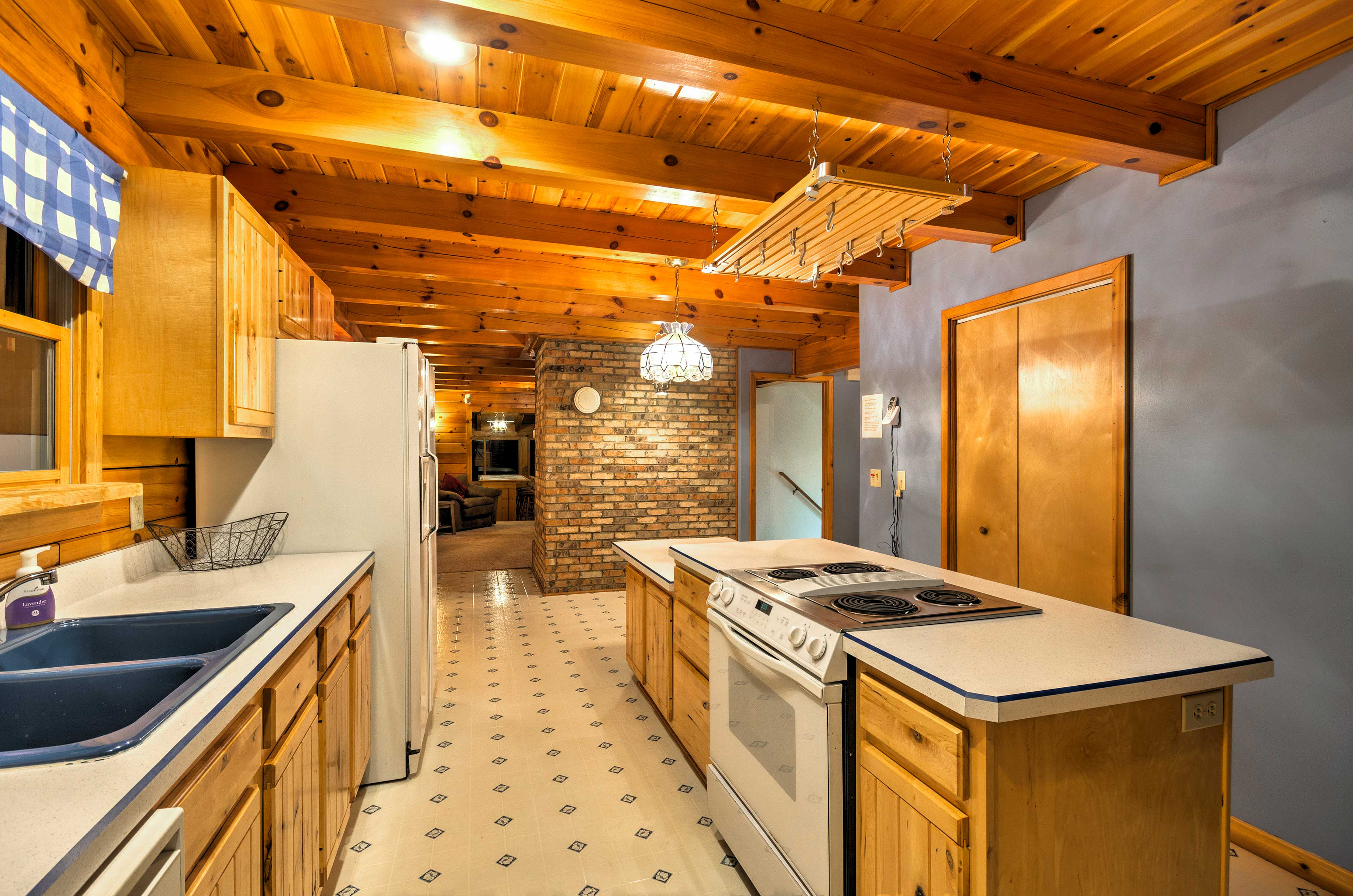 You'll have all the essential cooking appliances and ample counter space.