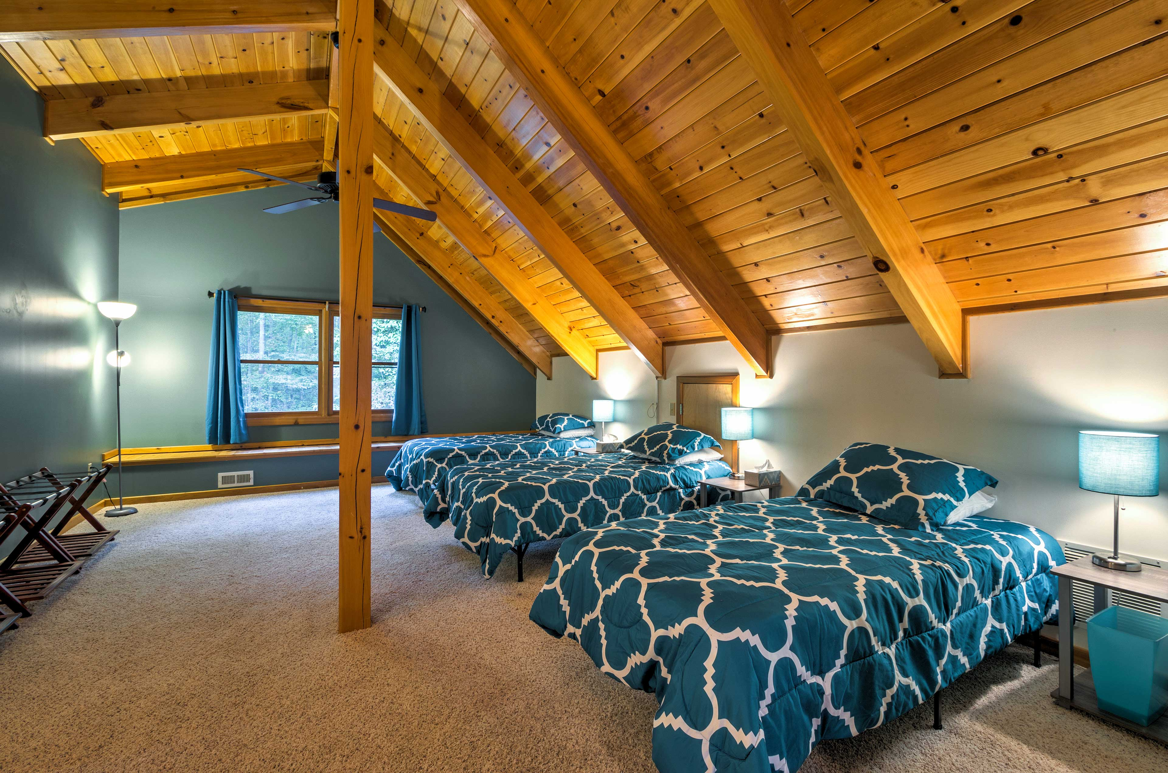 You'll find bedrooms on each level of the home.