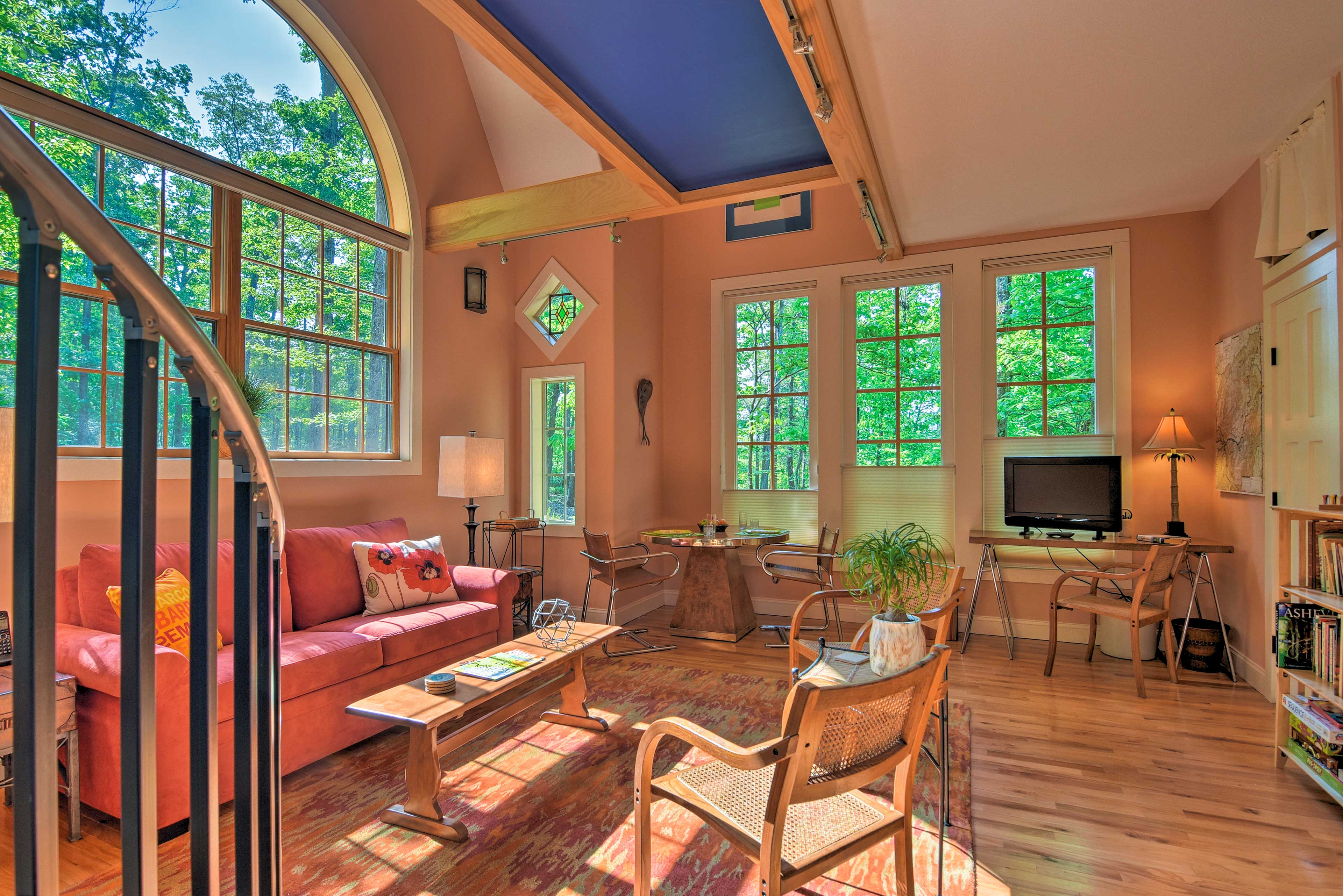 This great room will fill you with natural sunlight each morning.