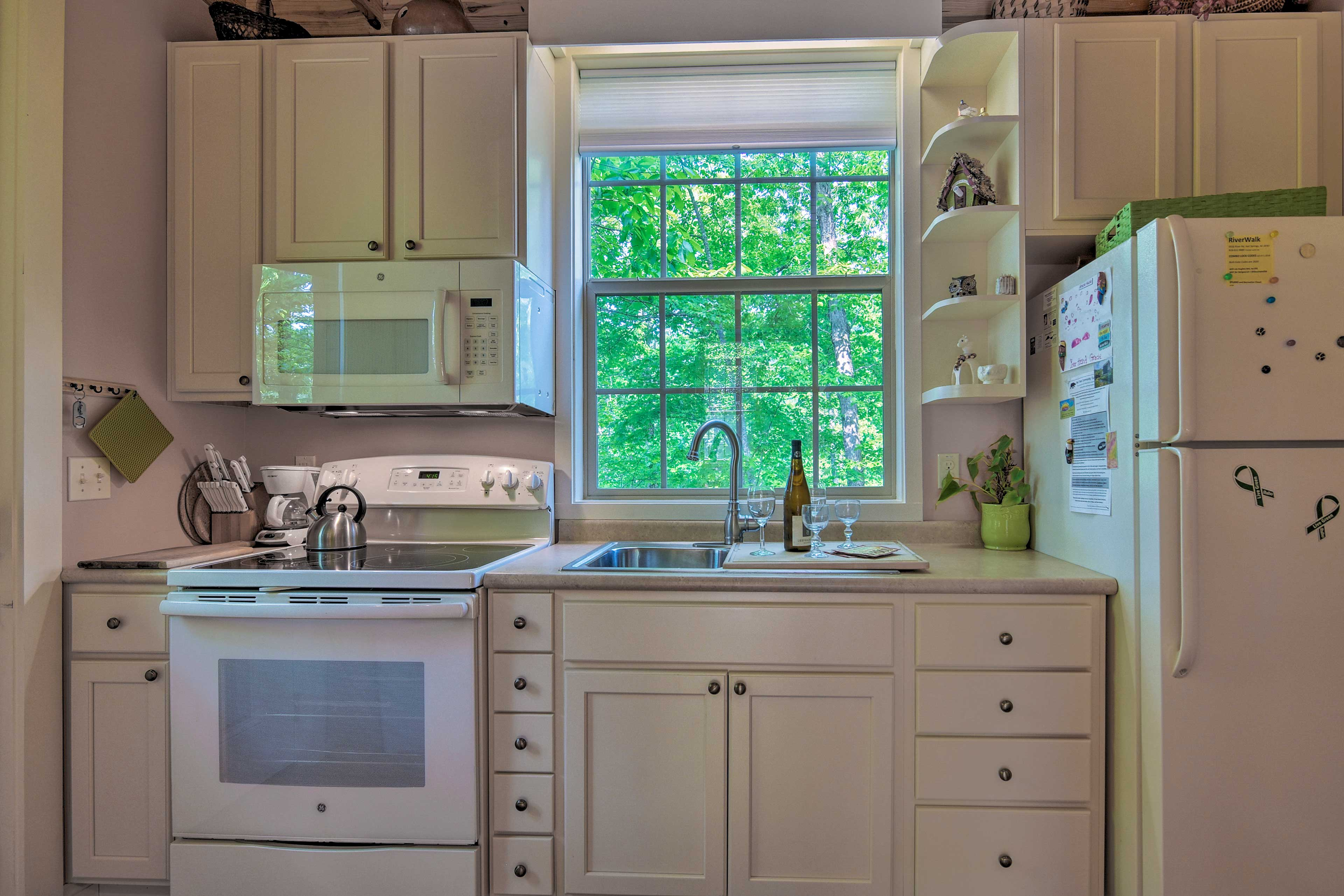 Keep the cooking simple in this well-equipped galley kitchen.
