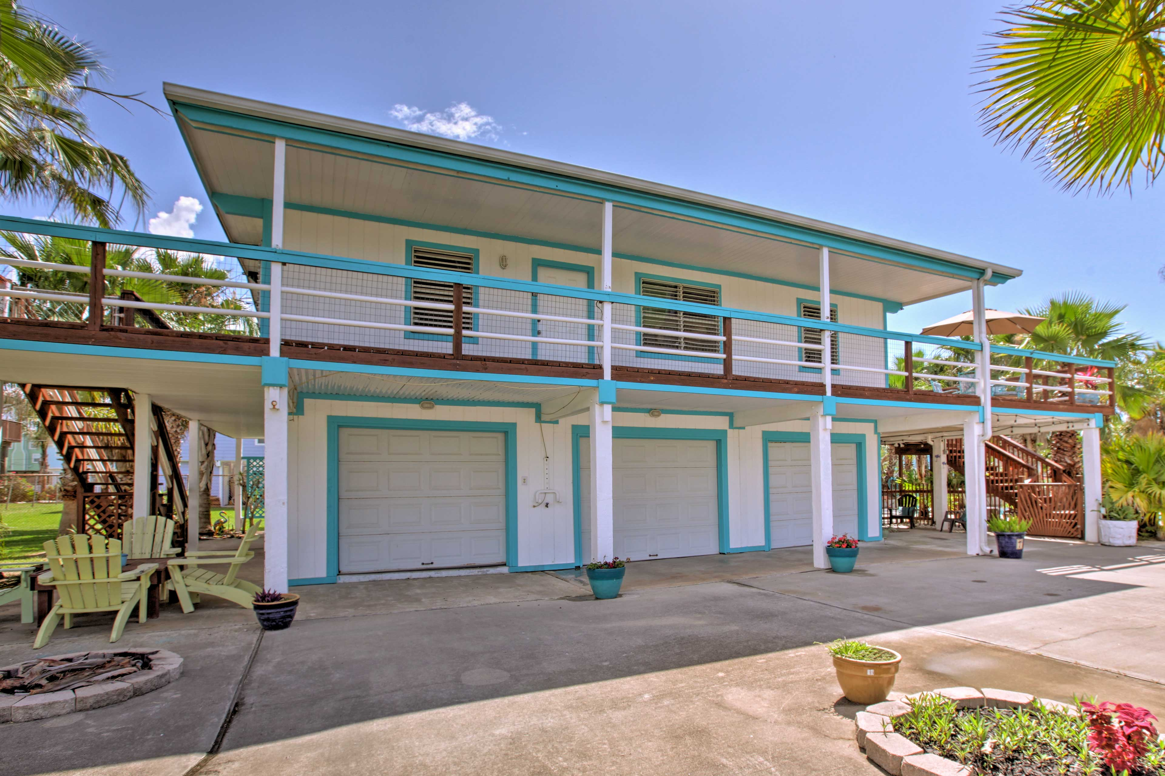 Escape the stresses of everyday life at this Galveston vacation rental house.