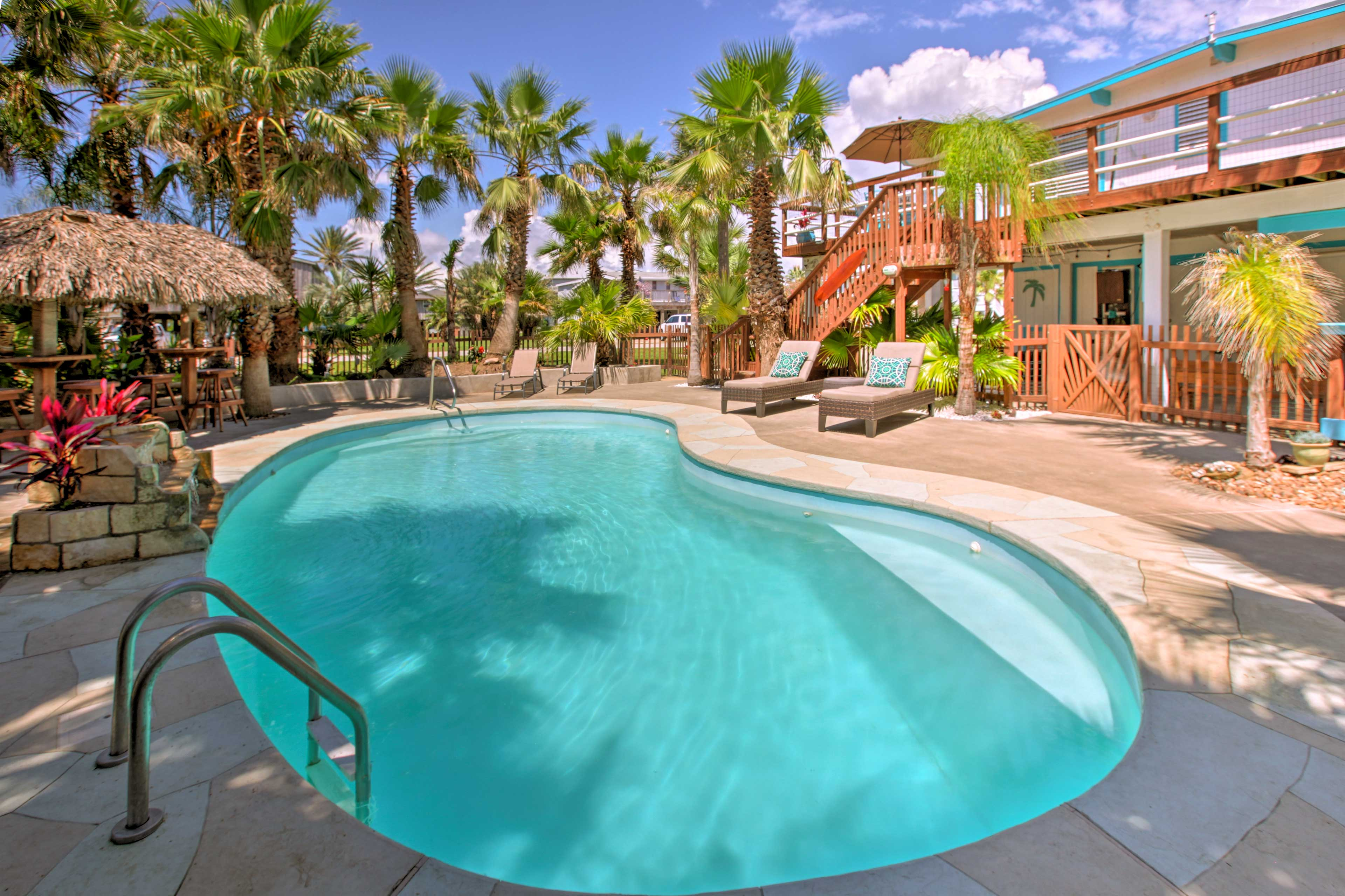 You won't want to leave your private poolside oasis.