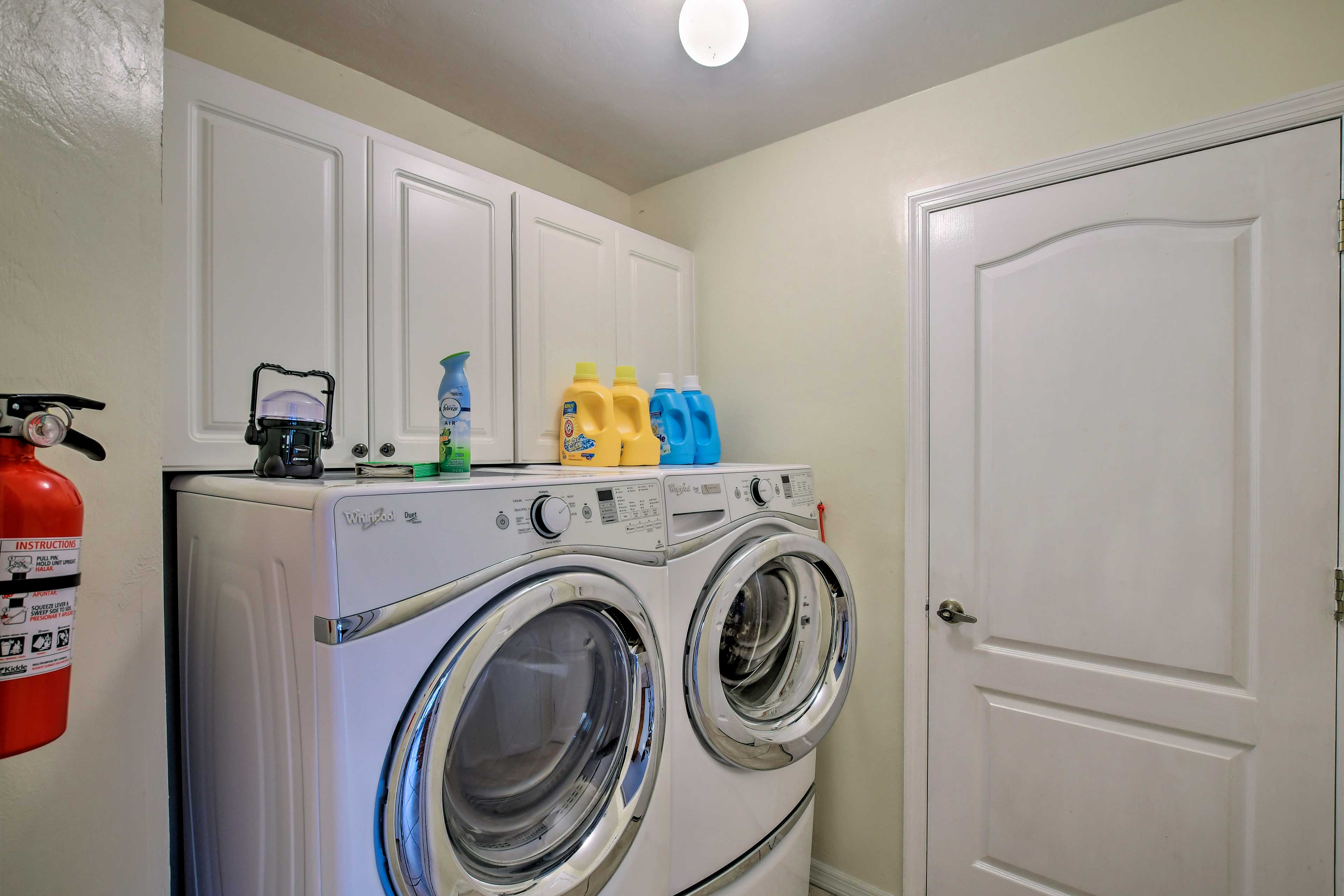 Keep your clothing clean during your stay with the in-unit washer and dryer.