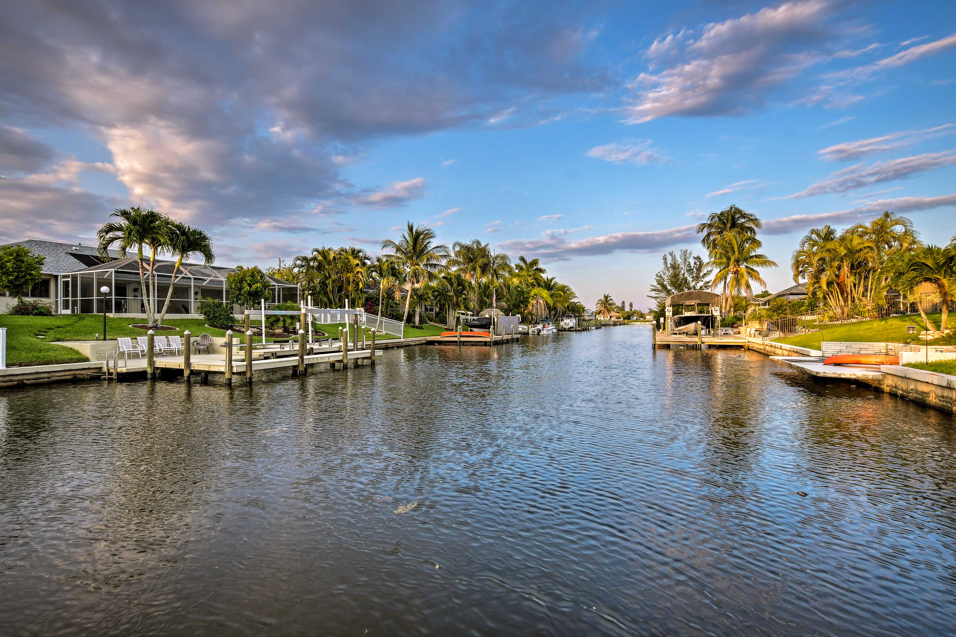 Wander down to the waterfront and dip your toes in the cool canal.