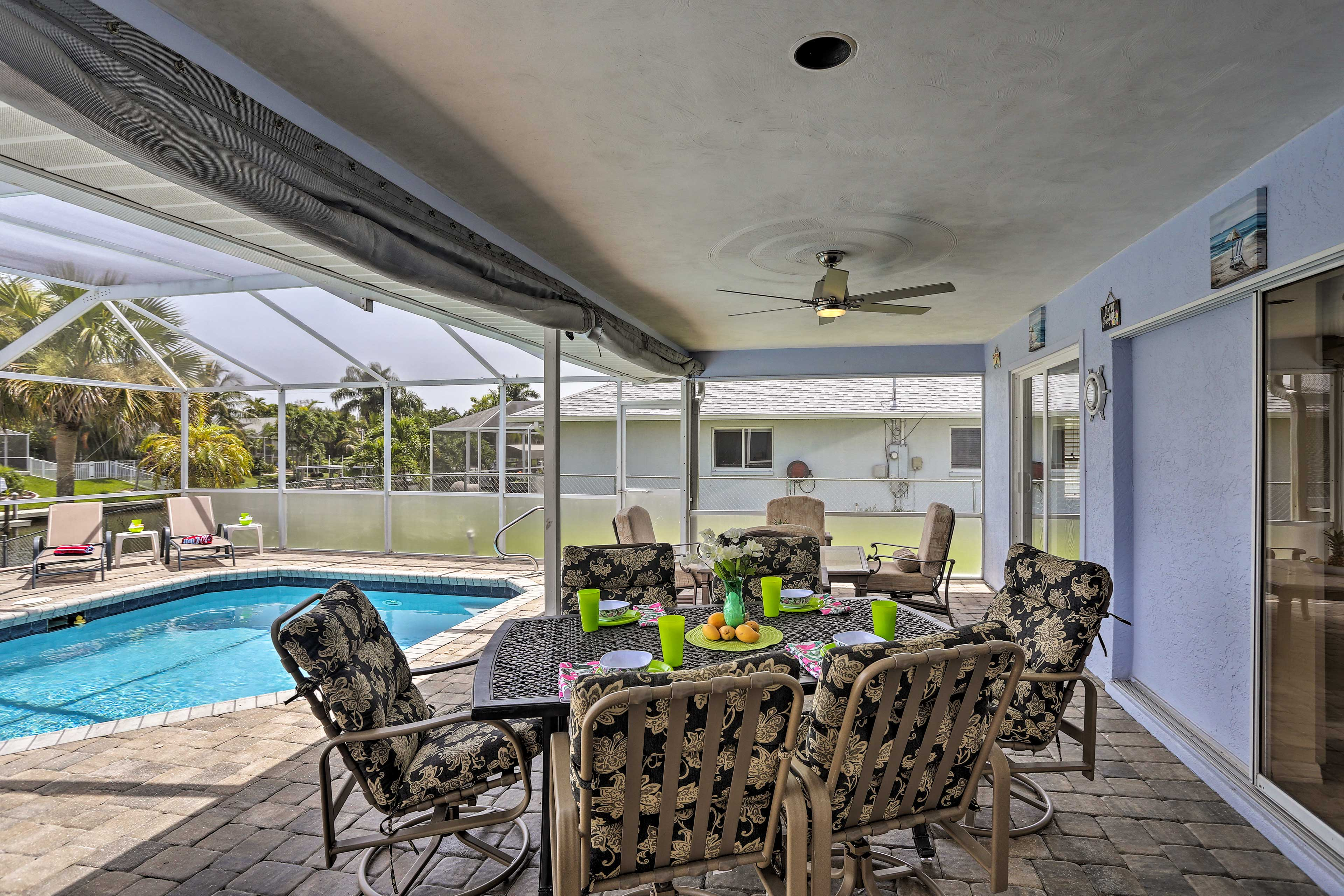 Kick back as you look over the pool area!