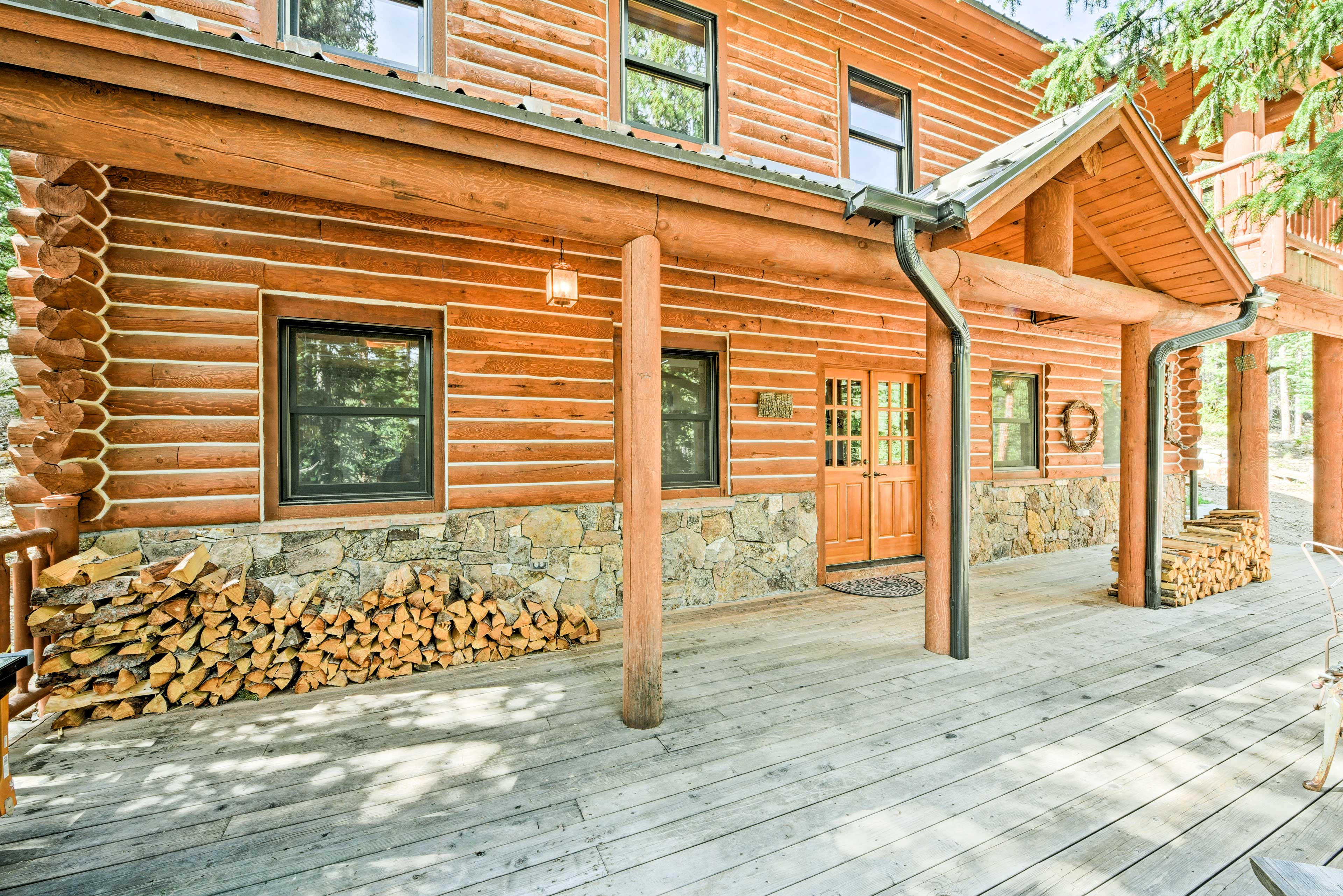 Take in the fresh mountain air on the expansive deck.