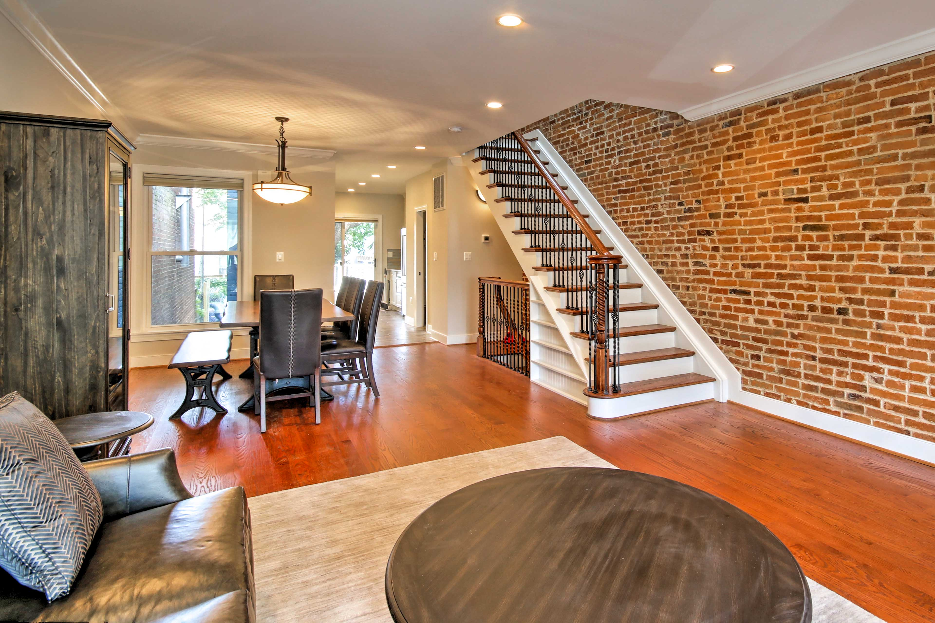 You'll love the exposed brick walls.