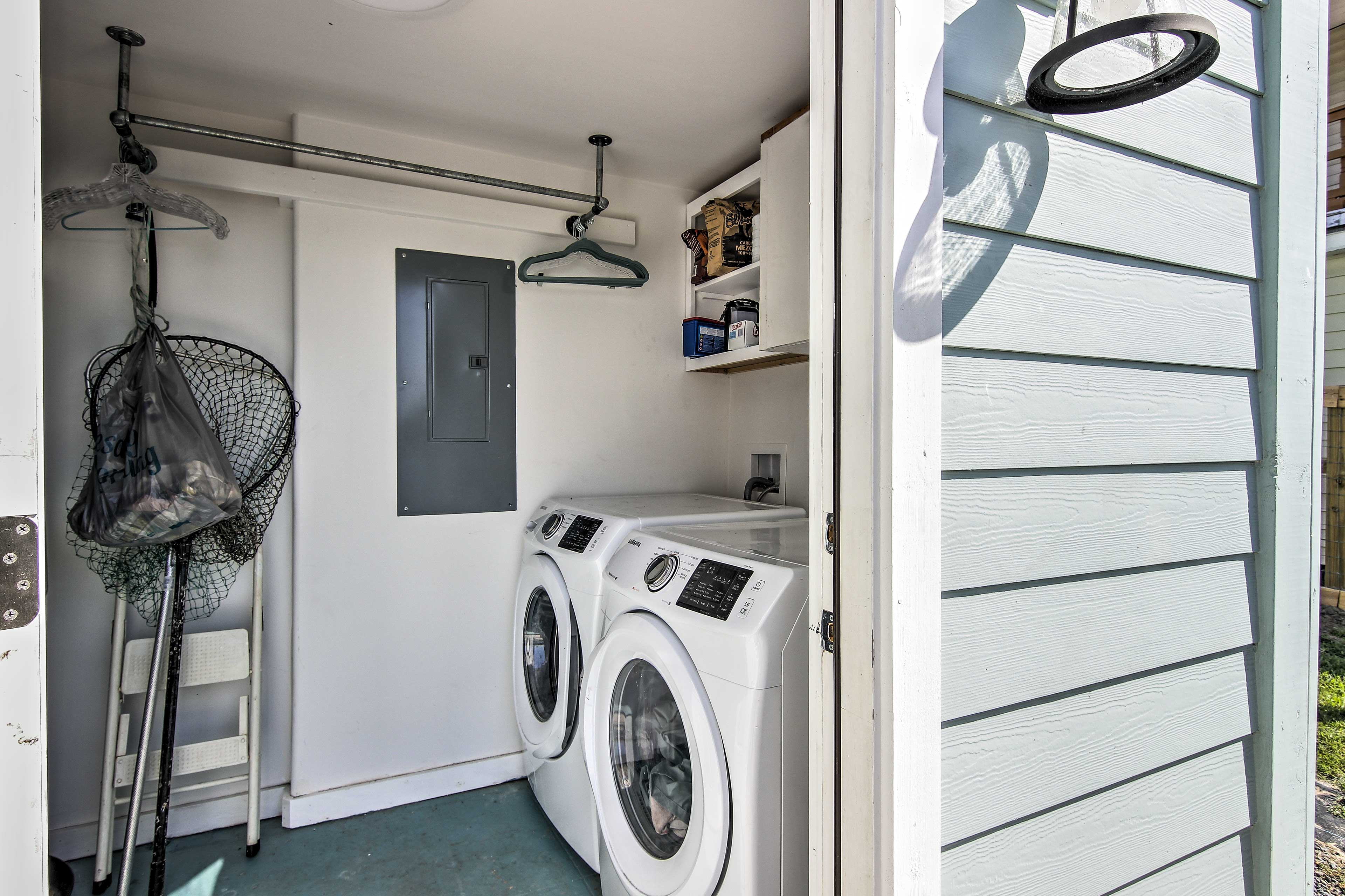 The shared laundry will keep your clothes fresh!