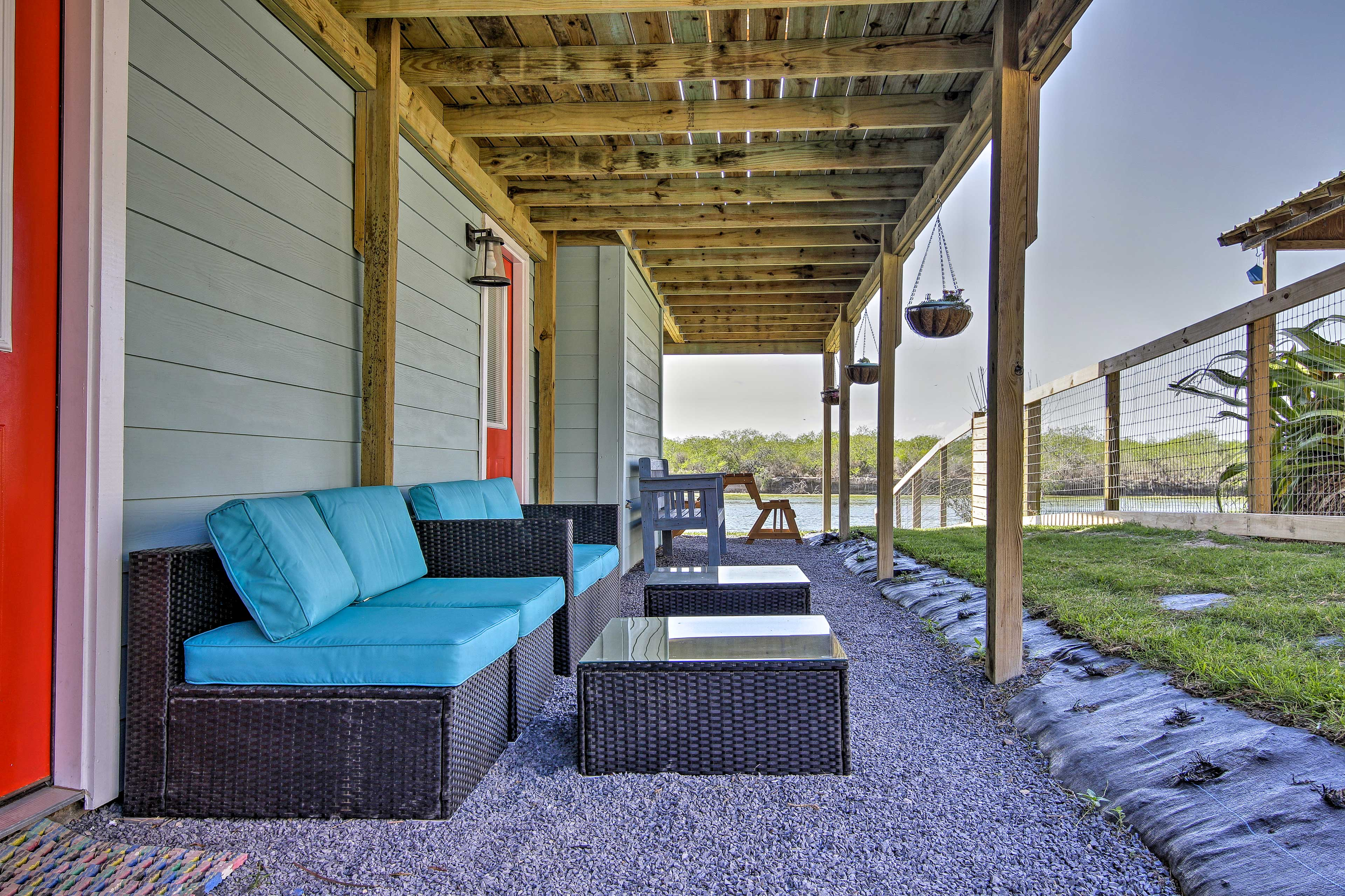 You'll find plenty of seating outdoors.